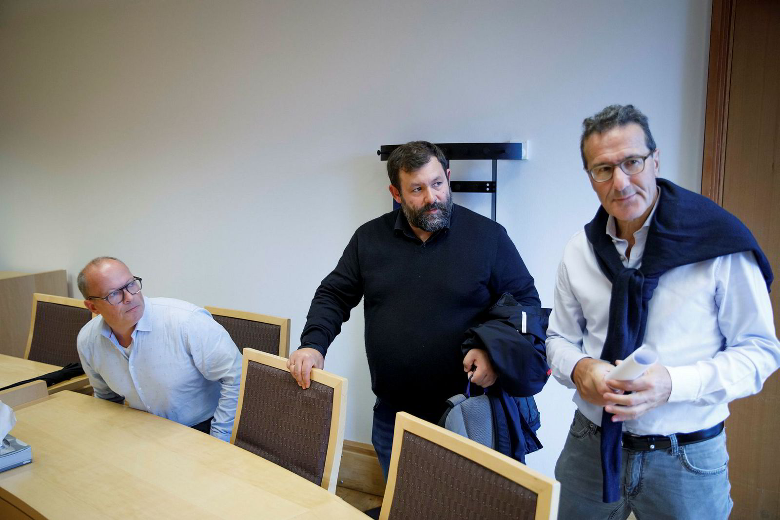 Jan Herman Plavnik Dante har nylig kommet inn på eiersiden av Filago. Fra venstre: Styreleder Helge Lund-Roland, daglig leder Trygve Harder Strand og Jan Herman Plavnik Dante.