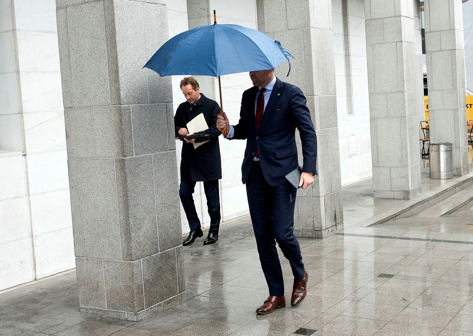 Kjell Inge Røkke utenfor Oslo tingrett mandag,