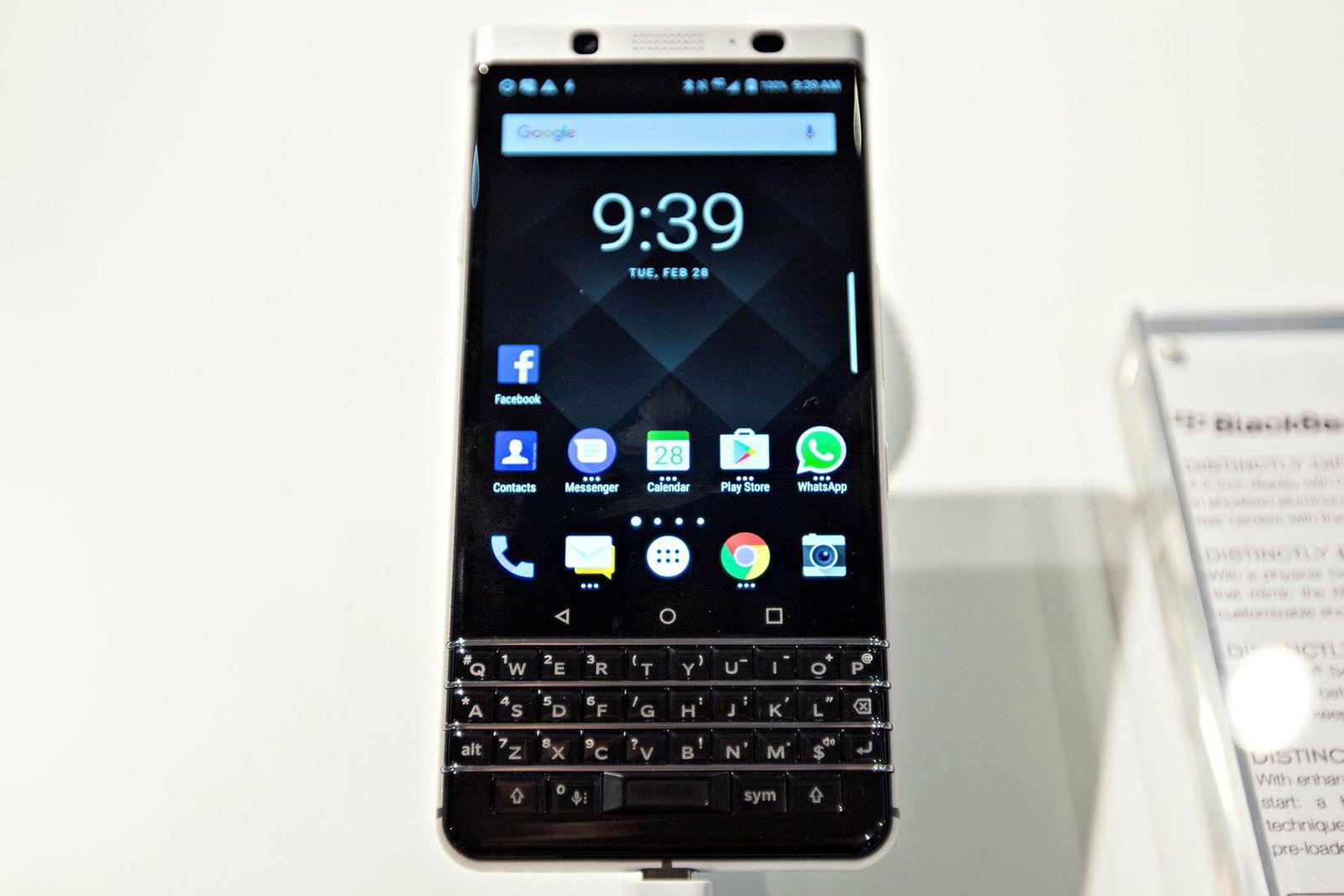 Blackberry er tilbake med fysisk QWERTY-tastatur og sikker epost i en«vanlig» Android-telefon.