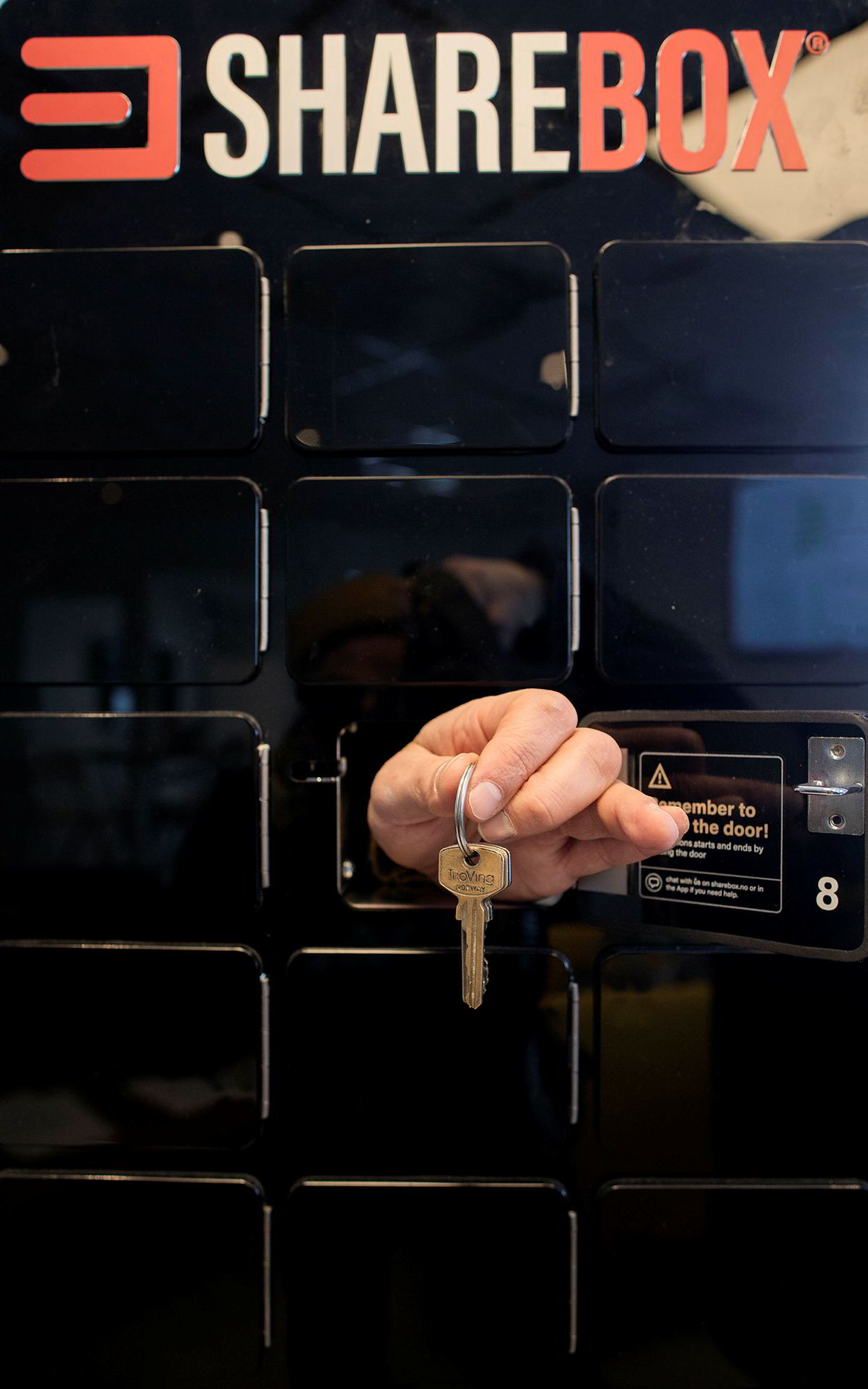 Skap med små rom som låses opp med mobilen og er utplassert i kiosker og på trafikknutepunkt, er forretningsideen til Sharebox.