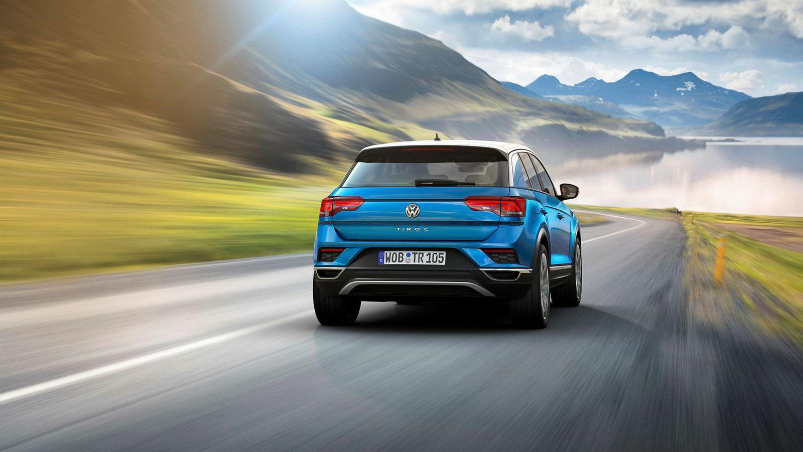 Volkswagen kommer ikke med elbil i 2018, men i likhet med mange andre bilmerker lanserer den tyske bilgiganten en rekke nye suv-modeller. Førstemann ut er den lille T-Roc.