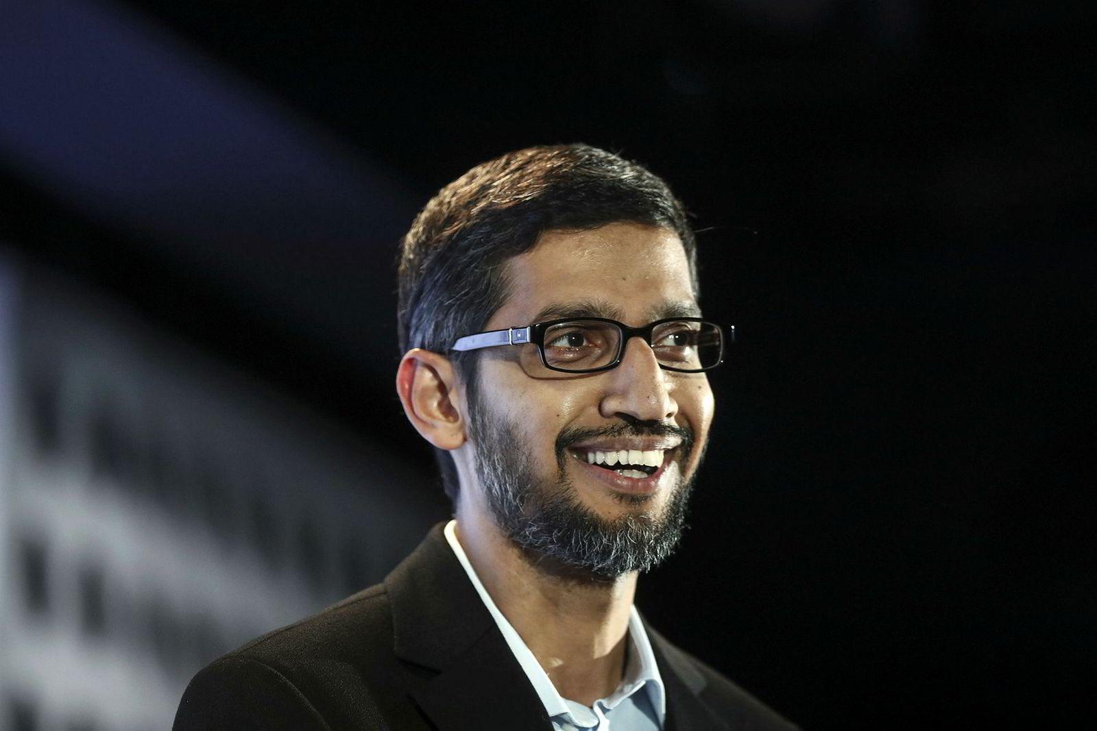 Sundar Pichai er administrerende direktør i Google.