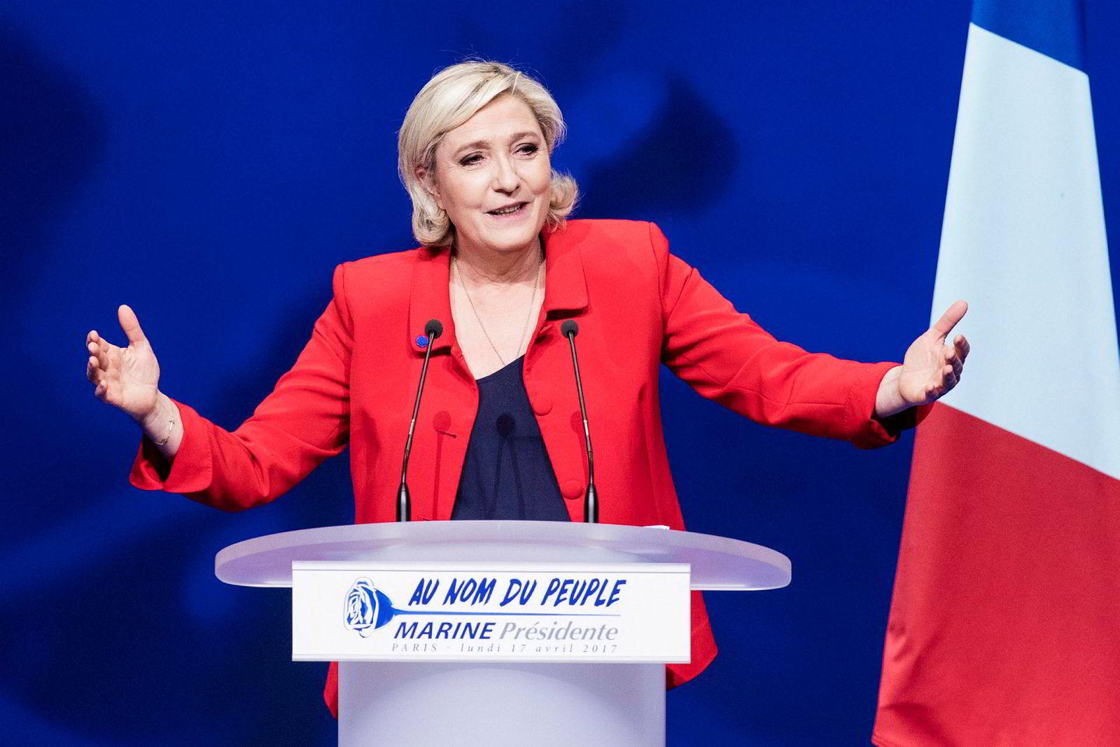 Marine Le Pen (48), partileder i Nasjonal Front.