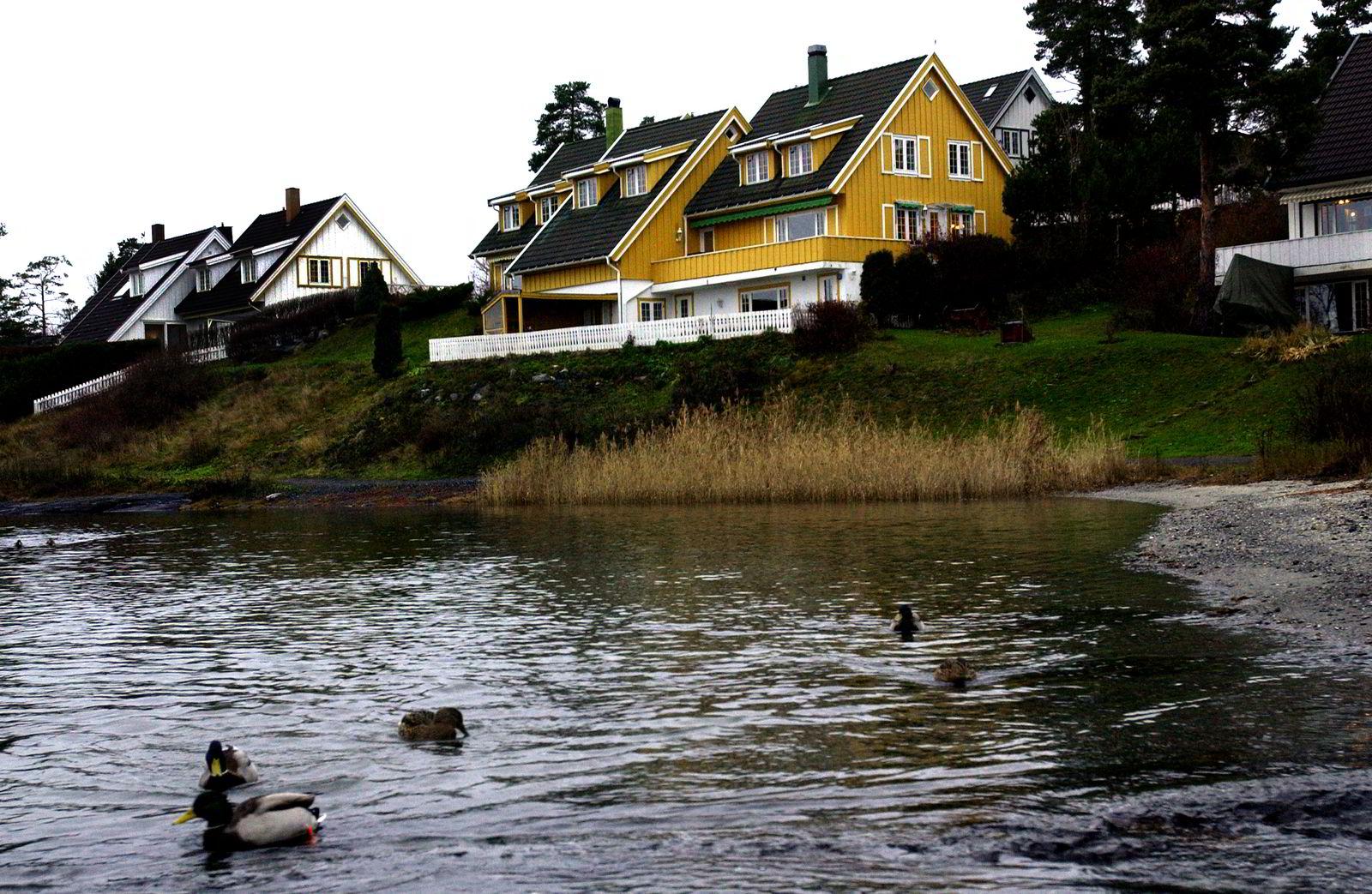 Partene kranglet om utbygging av en bod i Miguel Sørholts villa på Snarøya. Foto: