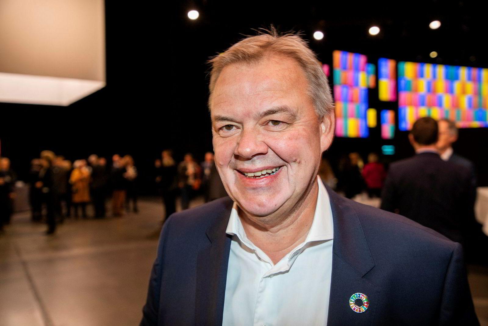 Konsernsjef Odd Arild Grefstad i Storebrand håper årets NHO-konferanse kan bidra til å vekke deltakerne til å forstå at det haster med klimaomstilling.