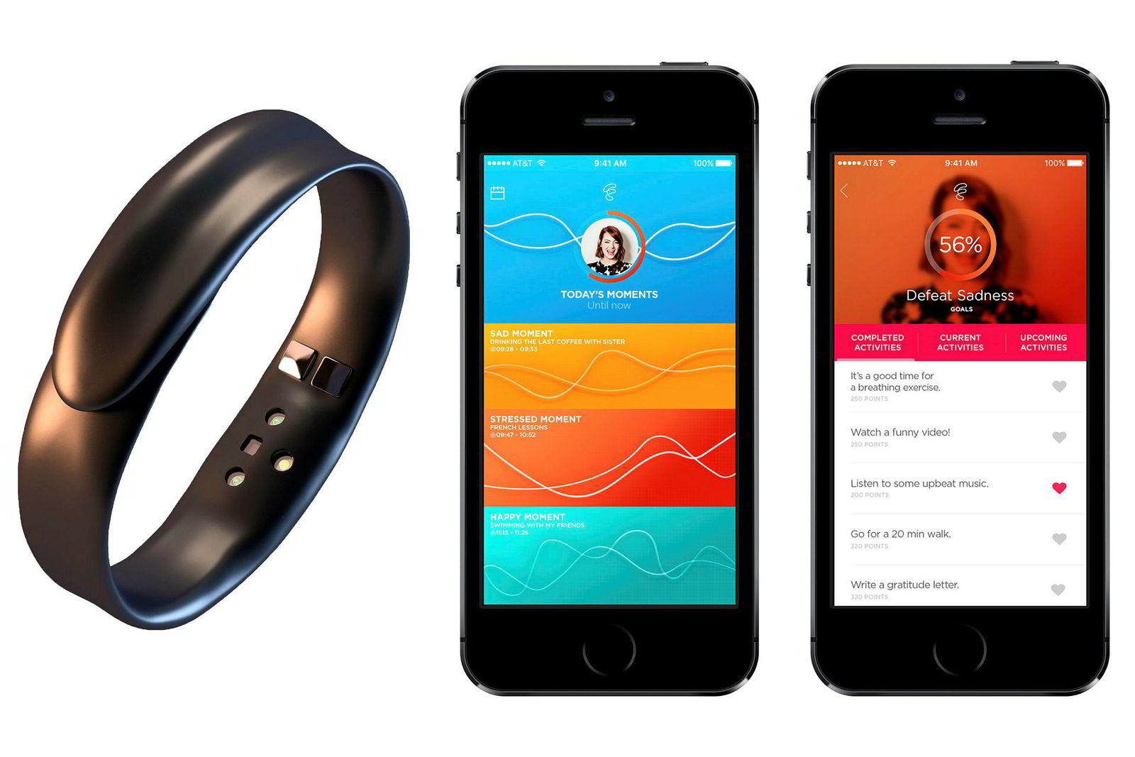 Feel er et armbånd og en app som skal veilede deg til et balansert følelsesliv.