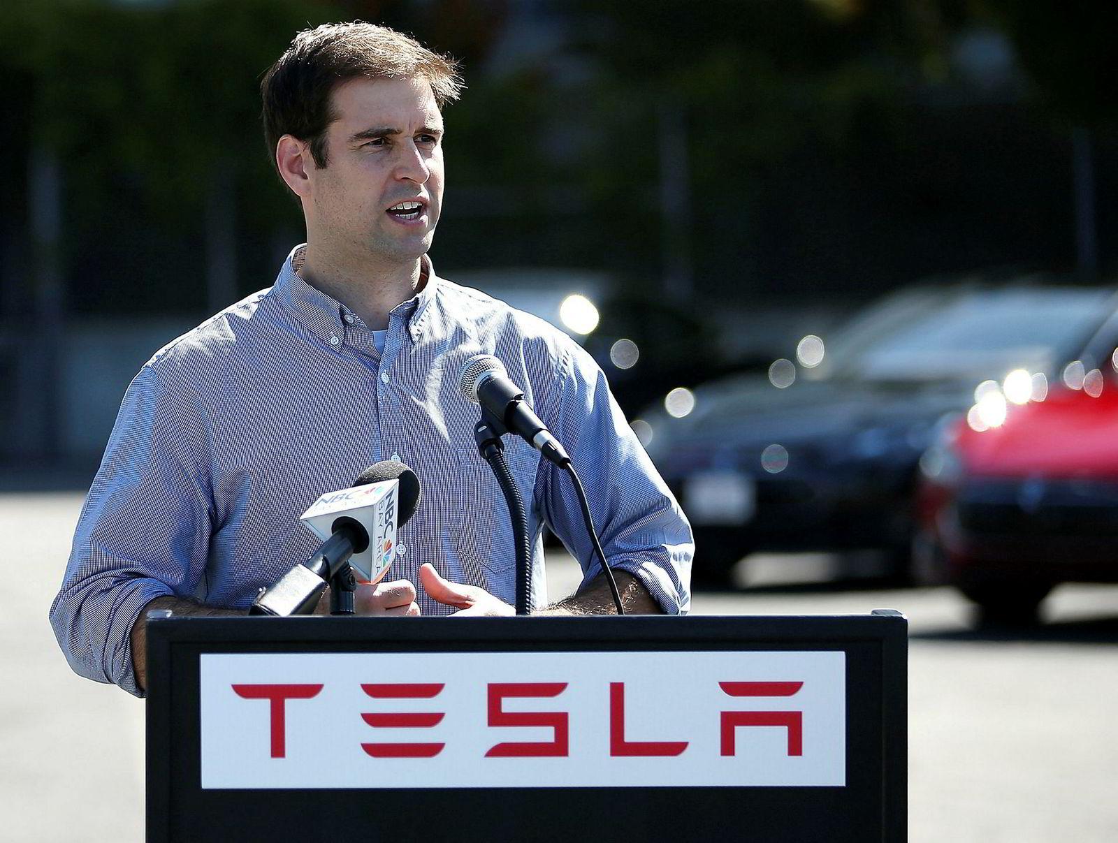 Uten en lunsj Tesla-gründer Musk hadde med JB Straubel i 2003 hadde ikke Tesla eksistert. Nå slutter han. Her fra 2013.
