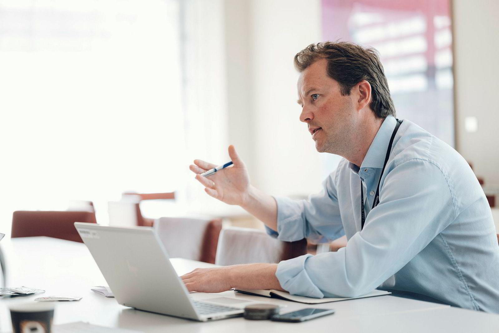 Kommunikasjonssjef i Equinor Bård Glad Pedersen sier Equinor ikke er registrert i Delaware av skattemessige grunner.