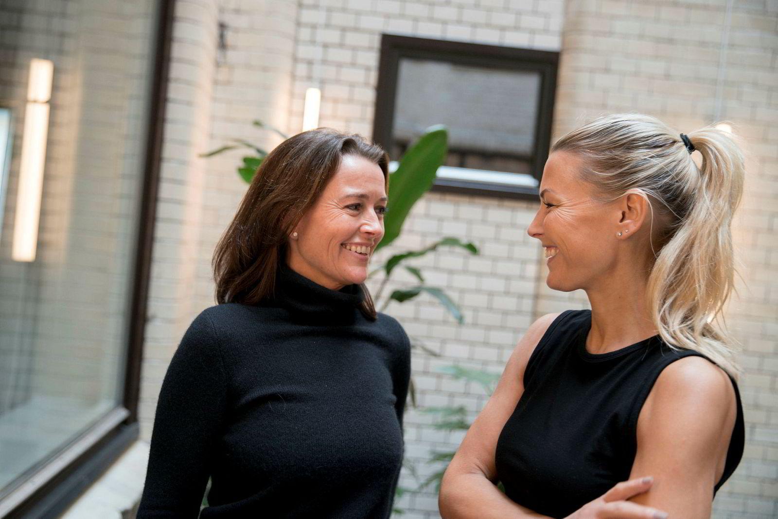 Daglig leder Marianne Borchgrevink (til venstre) i Run & Relax mener hun og medeier Vibeke Klemetsen utfyller hverandre godt.