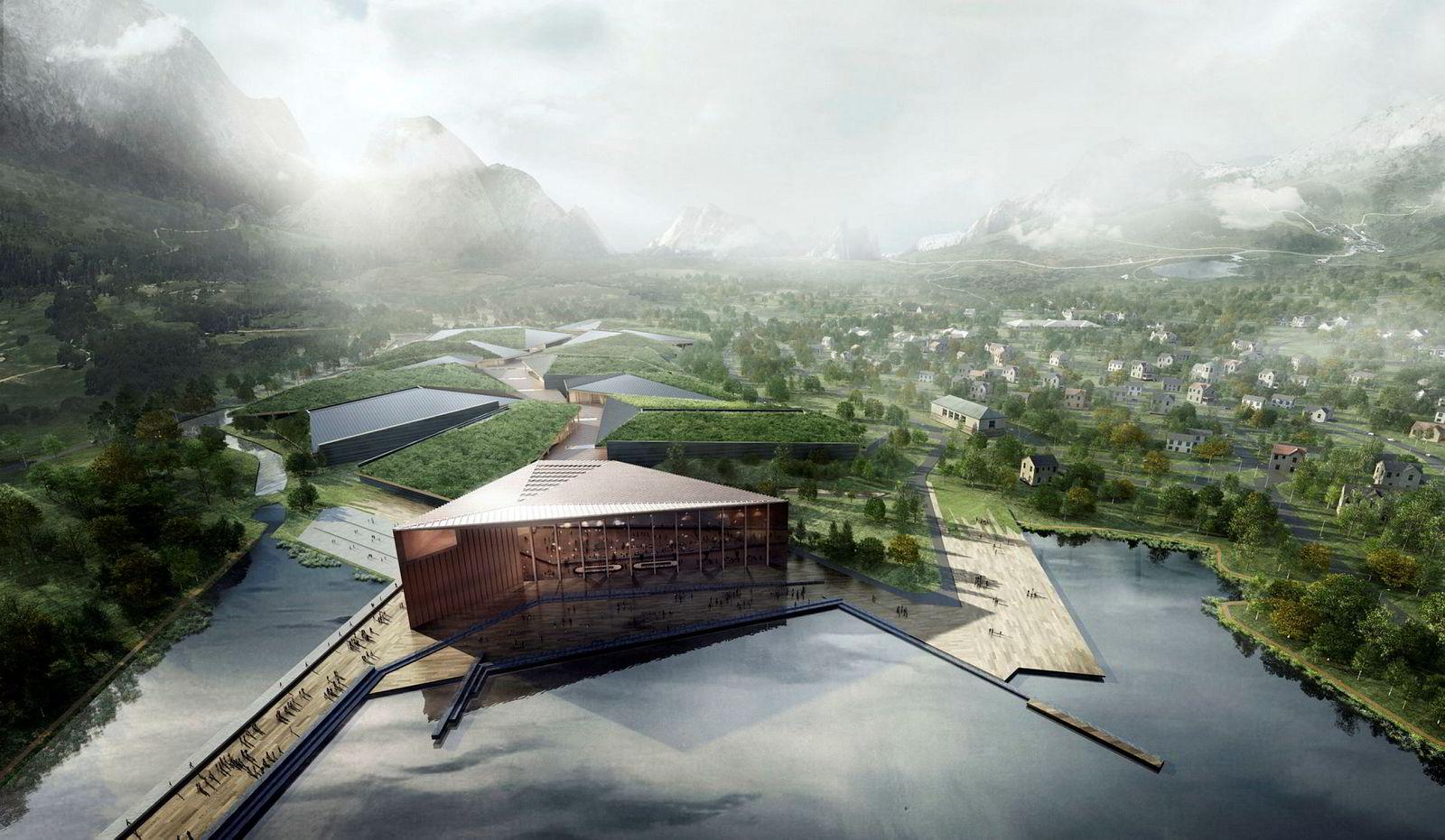 Senteret vil fullt utbygd være på 600.000 kvadratmeter over fire etasjer