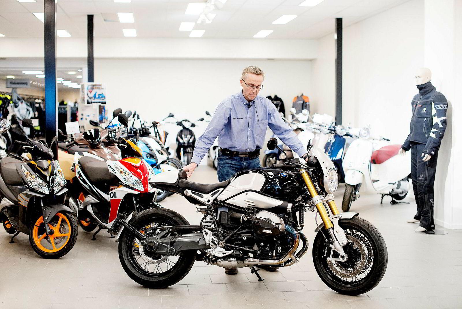 Geir Andreas Arnestad, eier AMD Motorsykler i Oslo. Her med ungdommens favorittsykkel KTM 125.