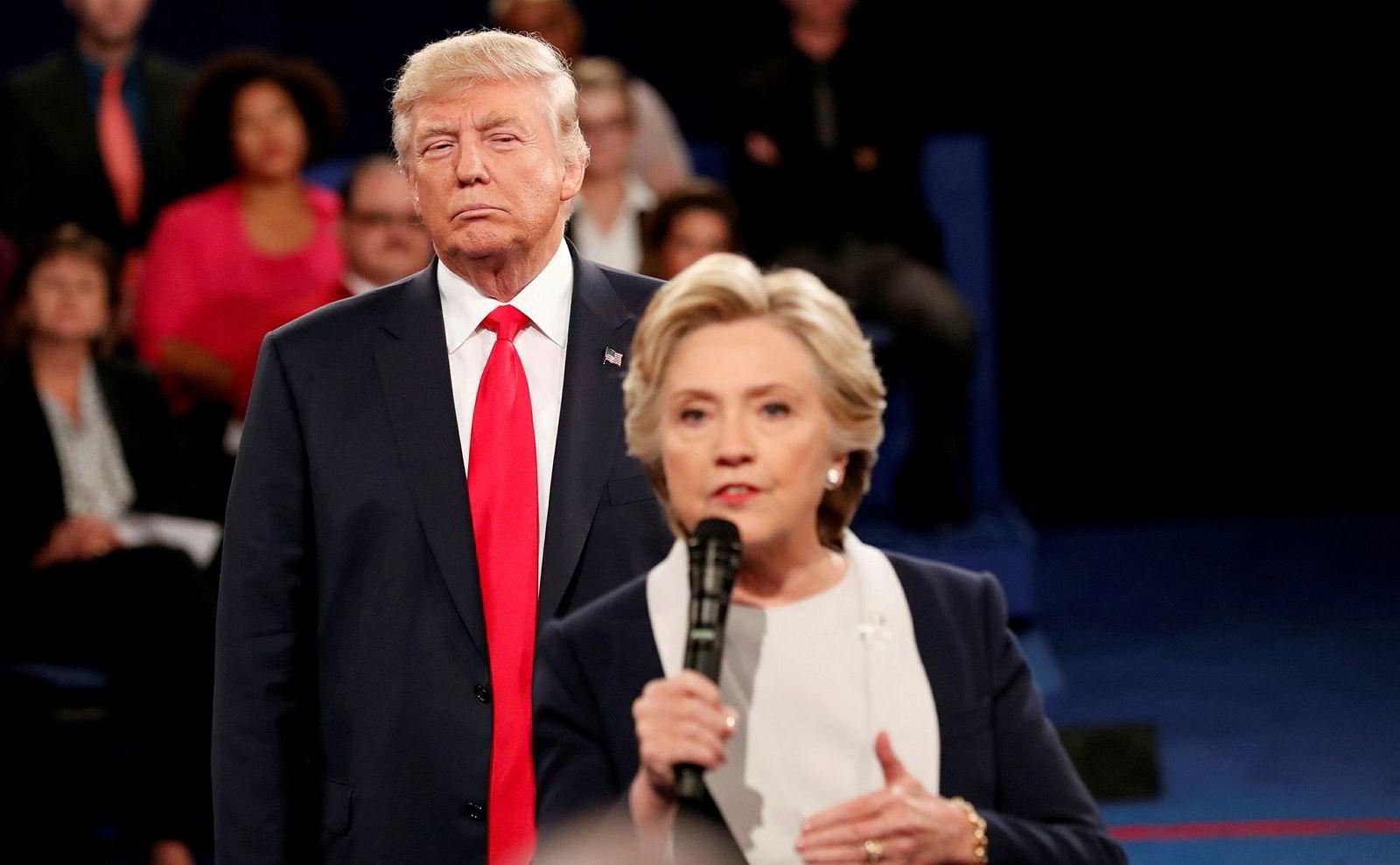 Donald Trump startet med påstandene mot Hillary Clinton under valgkampen her i 2016.