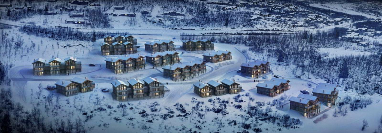 Prosjekt Aasgarden på Beitostølen med 60 leiligheter fra 2.090.000 kroner til 2.900.000 kroner.