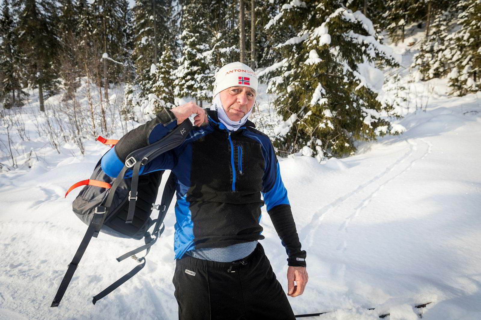 Matz Jenssen (73) er tidligere kombinertløper med et tyvetall Birken-starter og en av markas fremste slitere.