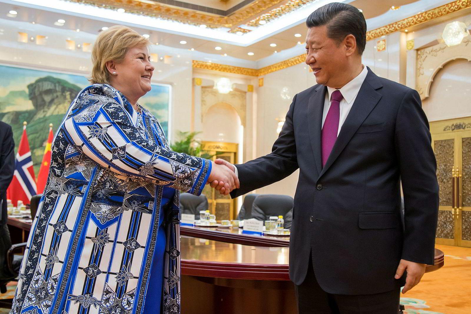 Om lag 240 representanter fra norsk næringsliv da statsminister Erna Solberg (H) besøkte Kina og president Xi Jinping i 2010.