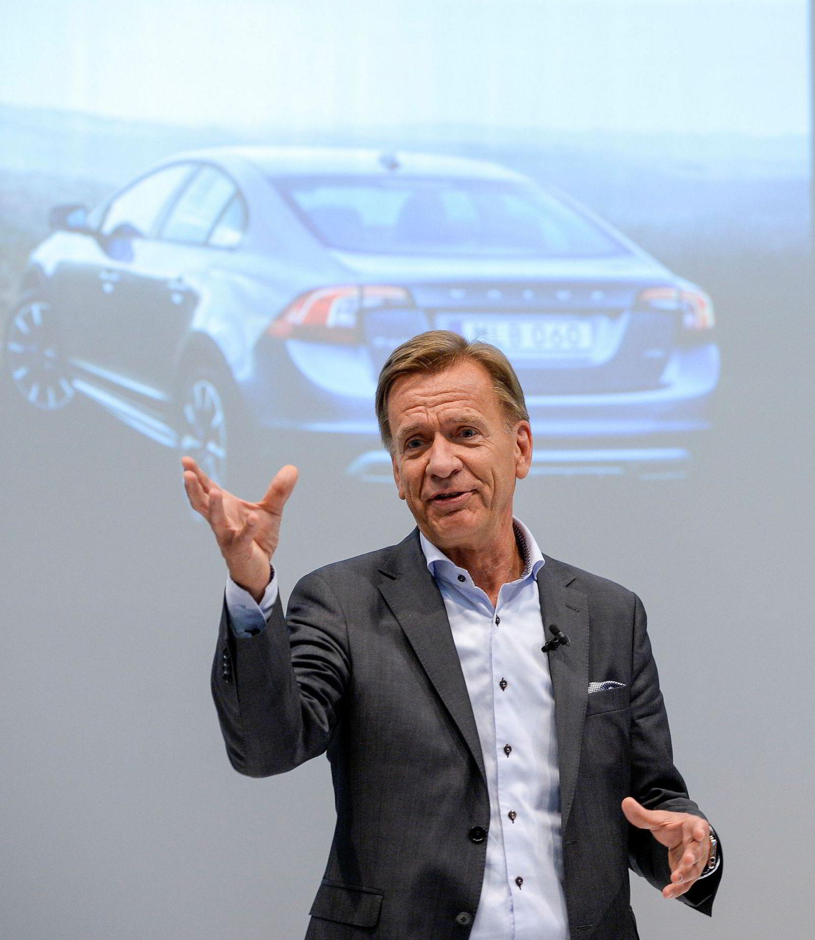 Konsernsjef Håkan Samuelsson i Volvo sier seg svært fornøyd med Volvos sterke resultater.