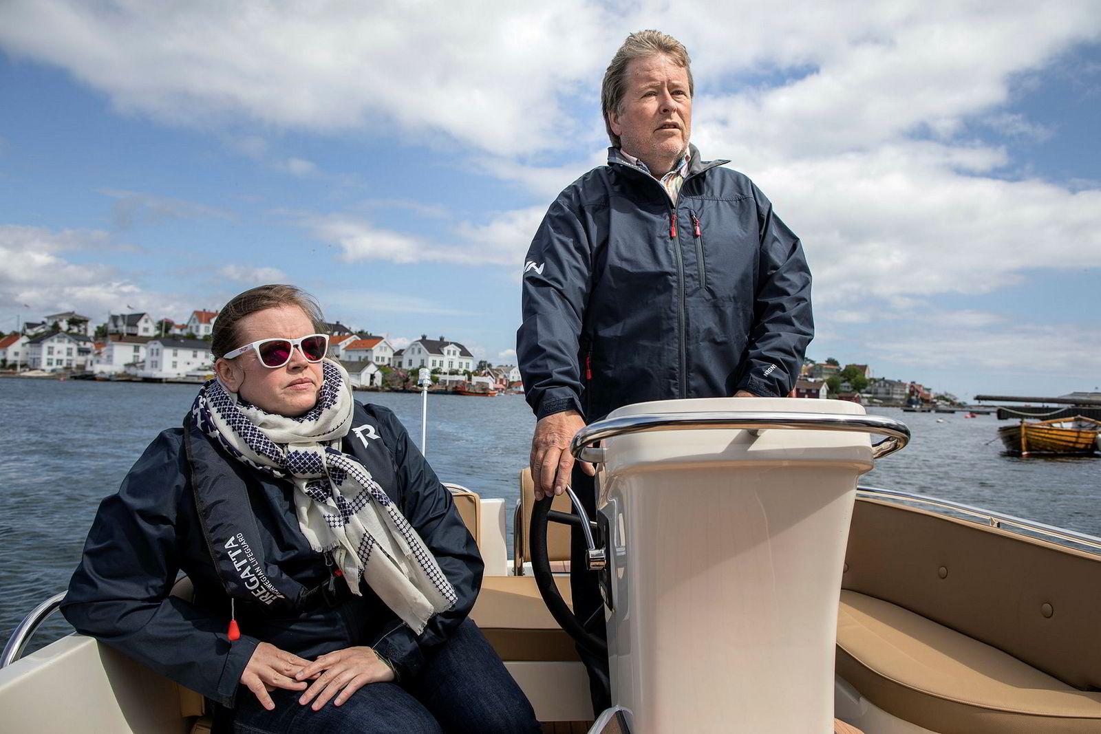 Ole Salomonsen og sjefen hans, datteren Ida Salomonsen Thorrud, tror det kun er snakk om tid får elbåtrevolusjonen starter for alvor