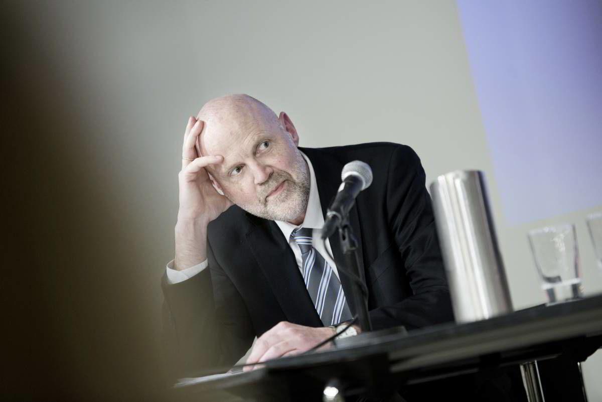Direktør Morten Baltzersen i Finanstilsynet holdt innlegg på Litteraturhuset denne uken.