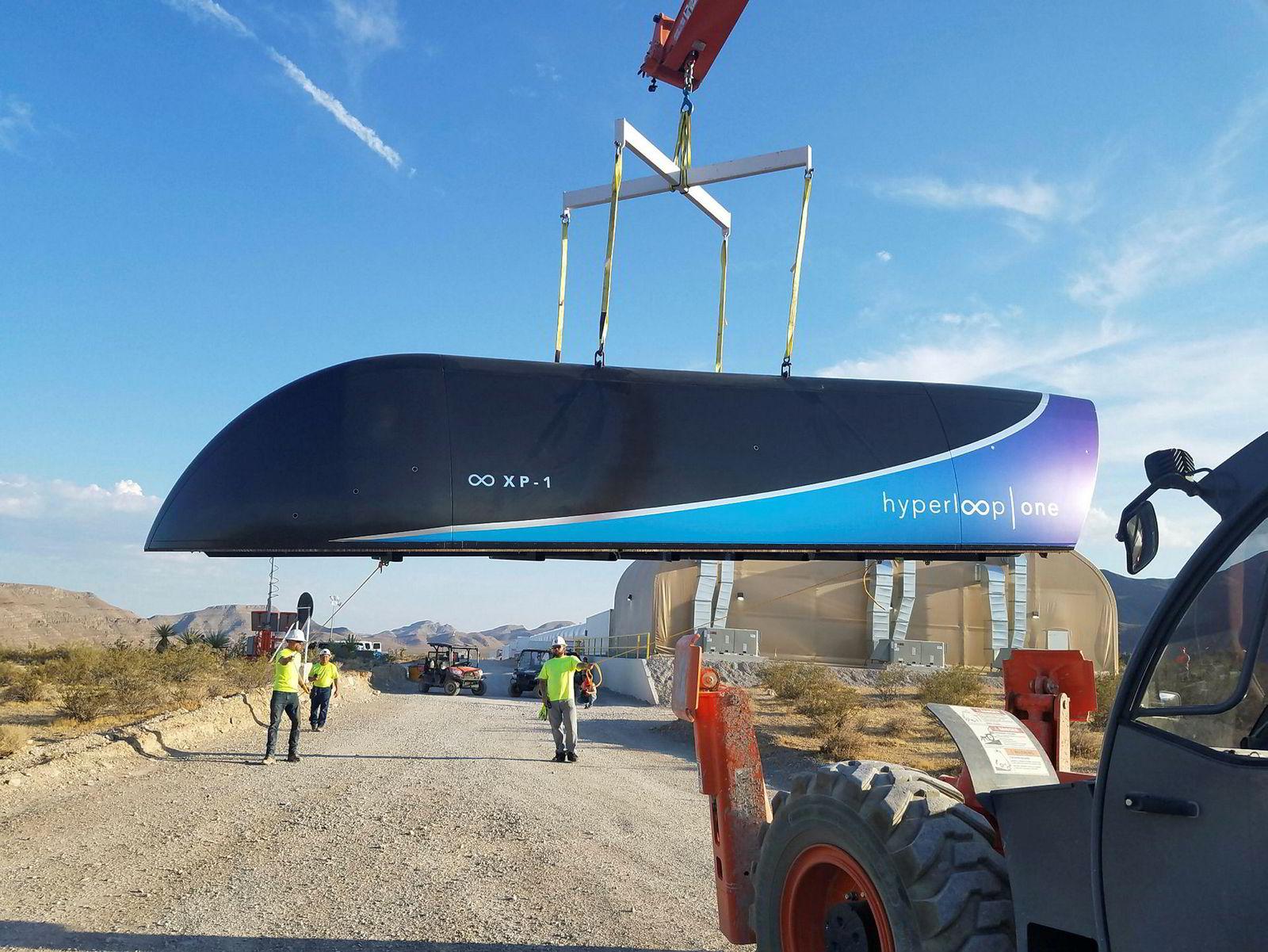 Prototypen XP-1 er prototypen på den typen vogn som vil bli brukt i de første Hyperloop-systemene.