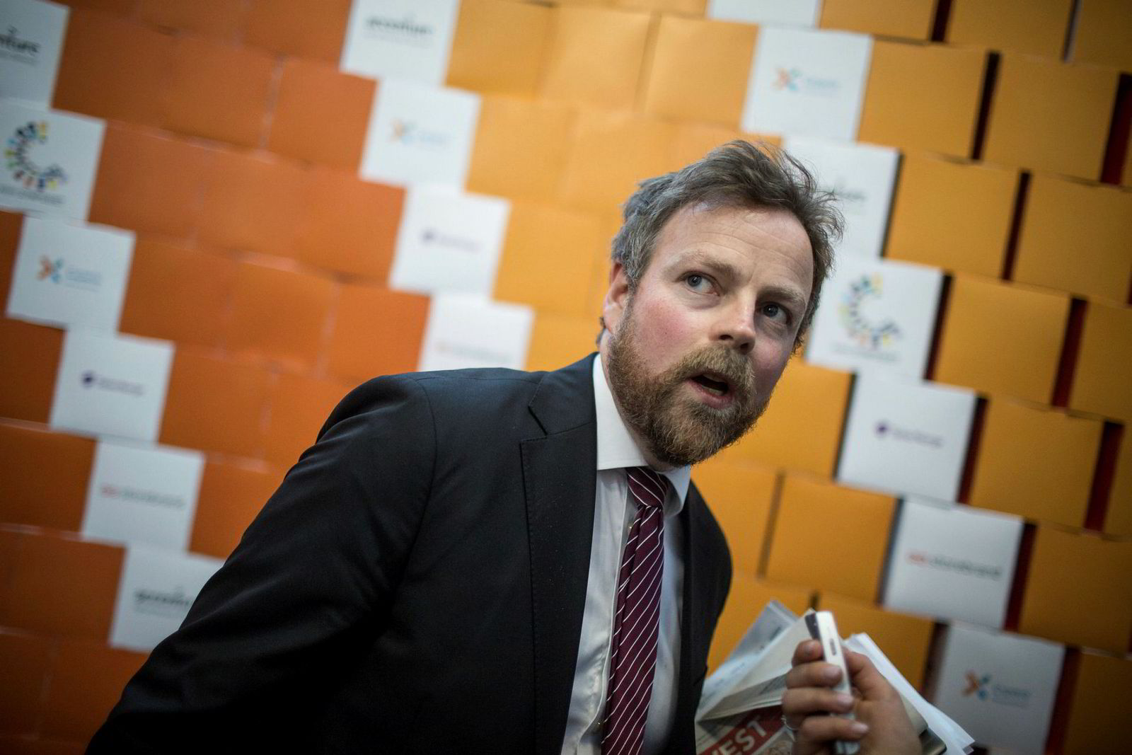 Kunnskapsminister Torbjørn Røe Isaksen under NHH-Symposiet i Bergen i mars.