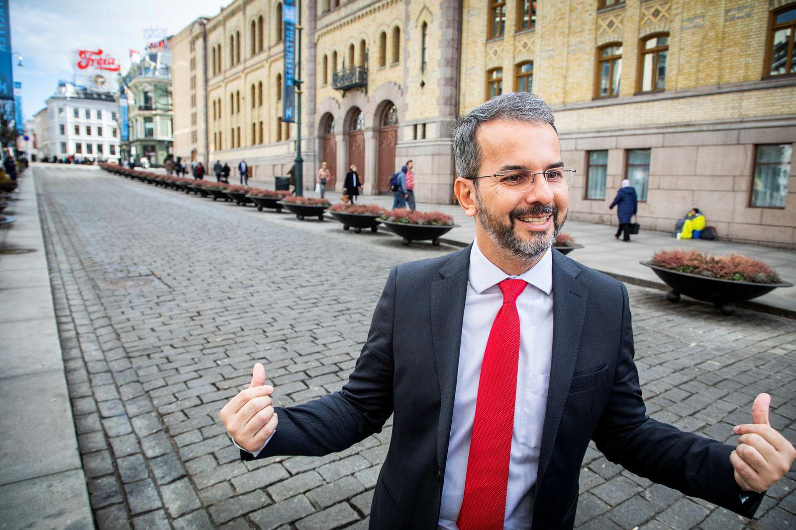 Ubiratan Cazetta er blant de mest sentrale statsadvokatene i Brasils delstat Pará som jobber med Hydro-saken. Her fra Oslo i mars i år, da han besøkte Norge som foredragsholder på konferansen Oslo Compliance Forum, arrangert av advokatfirmaet Wiersholm.
