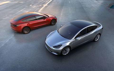 Tesla Model 3. Alle foto: Tesla