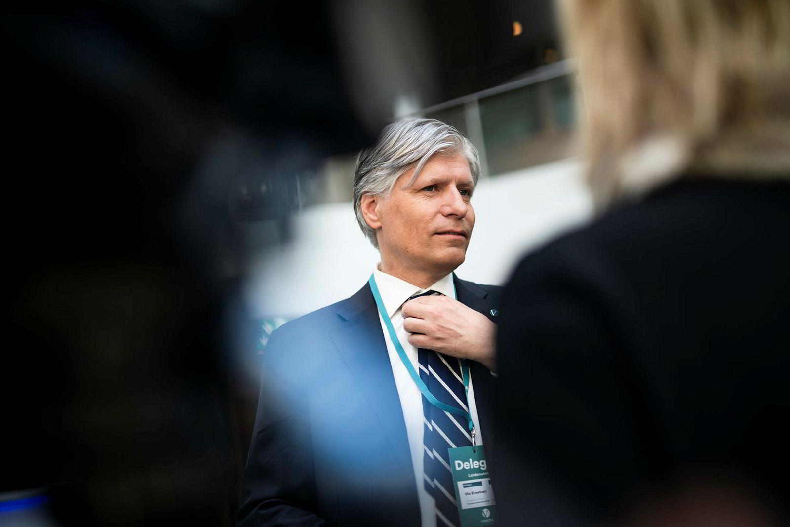 Uber ville blant annet møte klima- og miljøminister Ola Elvestuen. Her er han på landsmøtet til Venstre i år.