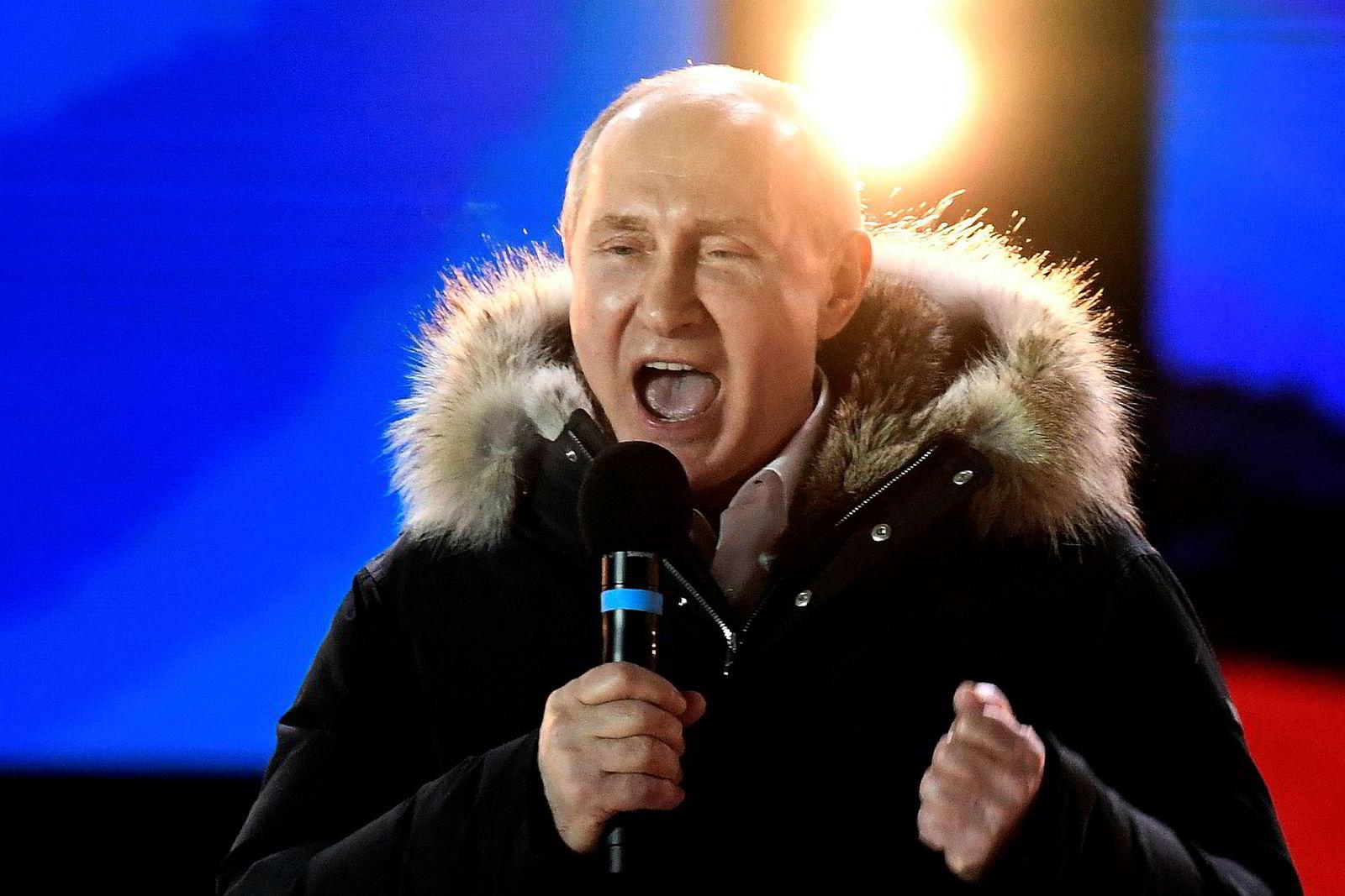 Vladimir Putin vant nok en gang valget i Russland. Foto: KIRILL KUDRYAVTSEV/AFP/NTB Scanpix