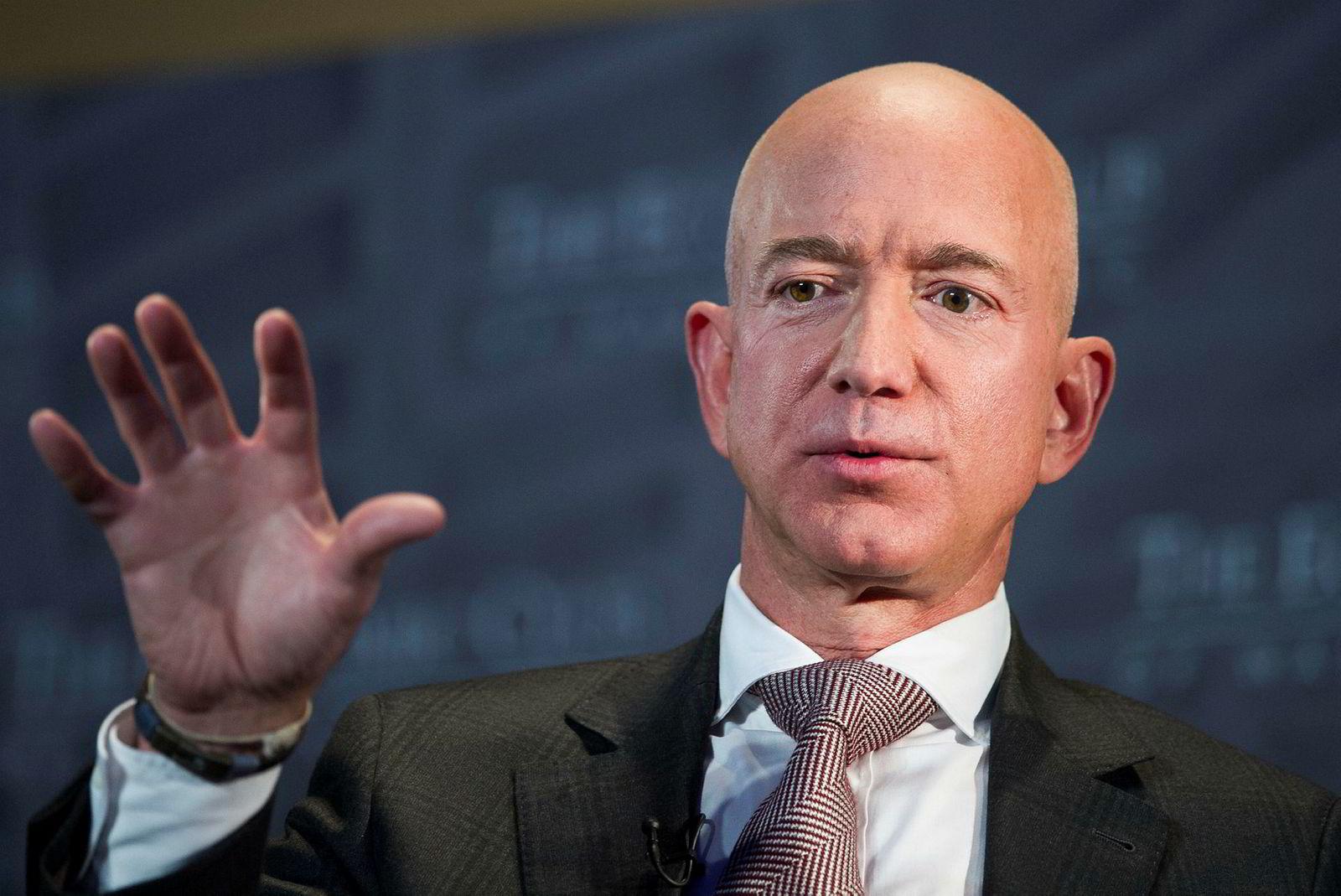 Amazons grunnlegger og toppsjef Jeff Bezos.