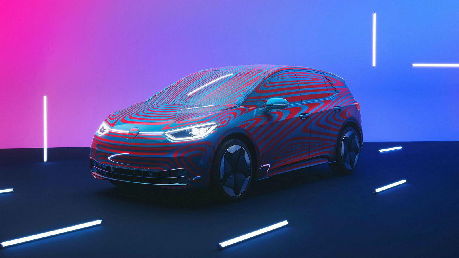 Flere ulike batteristørrelser blir tilgjengelig på den første elbilen bygget på Volkswagens MEB-plattform.