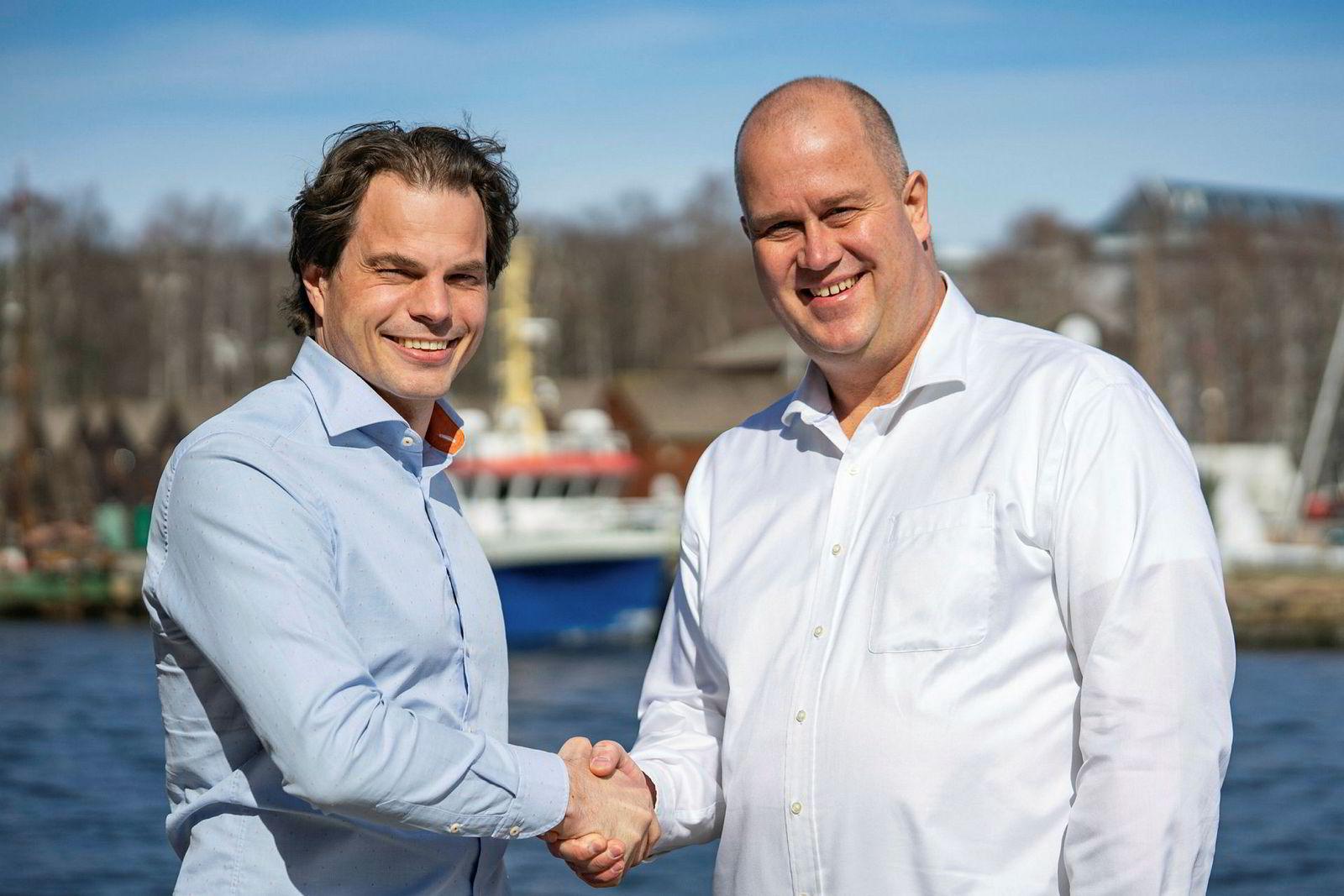 Erik Fossum Færevaag (til venstre) og Raoul Wijgergangs.