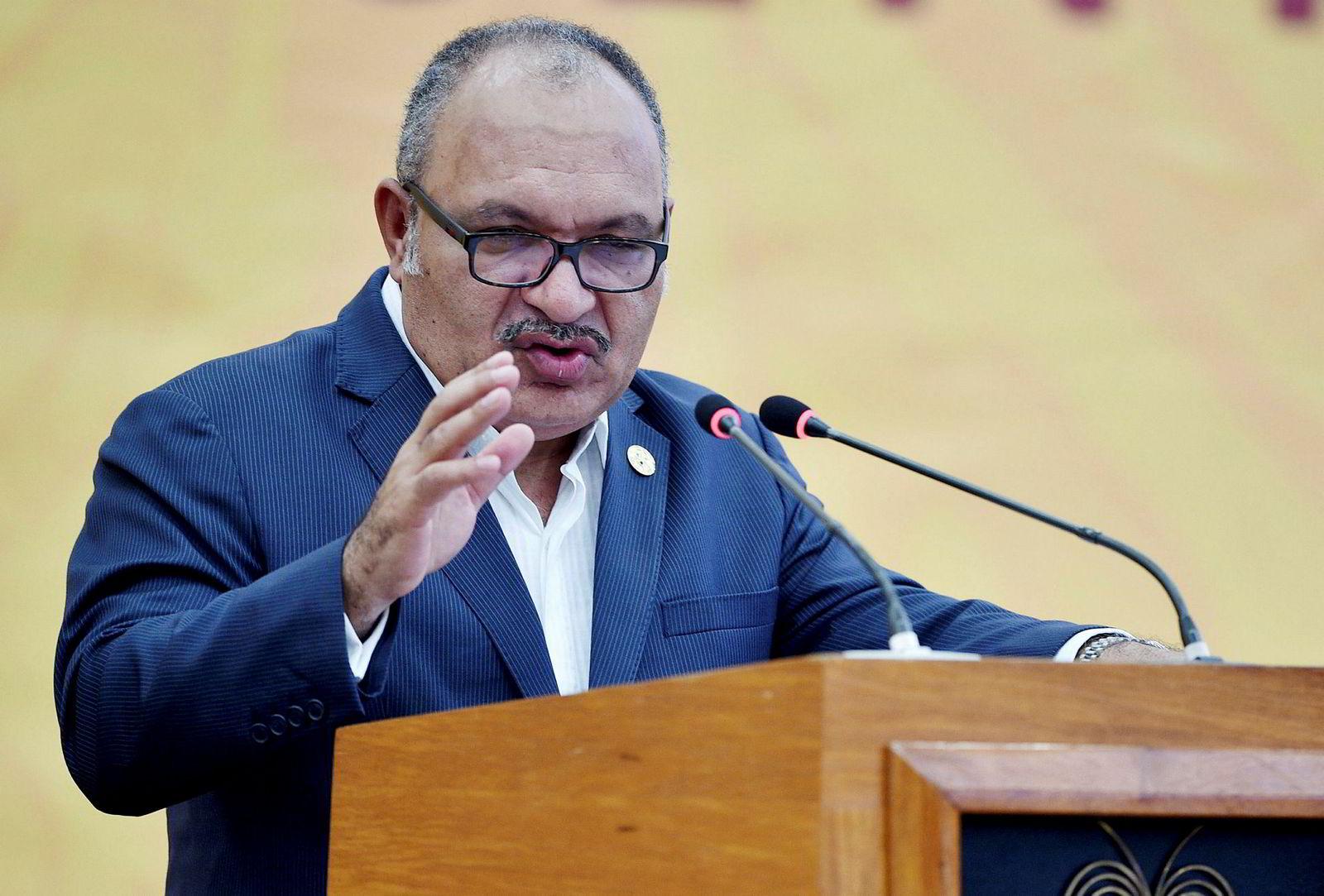 Papua Ny-Guineas statsminister Peter O'Neill ga USA og Kina ga skylden for at det ikke ble en felles slutterklæring på årets Apec-møte.