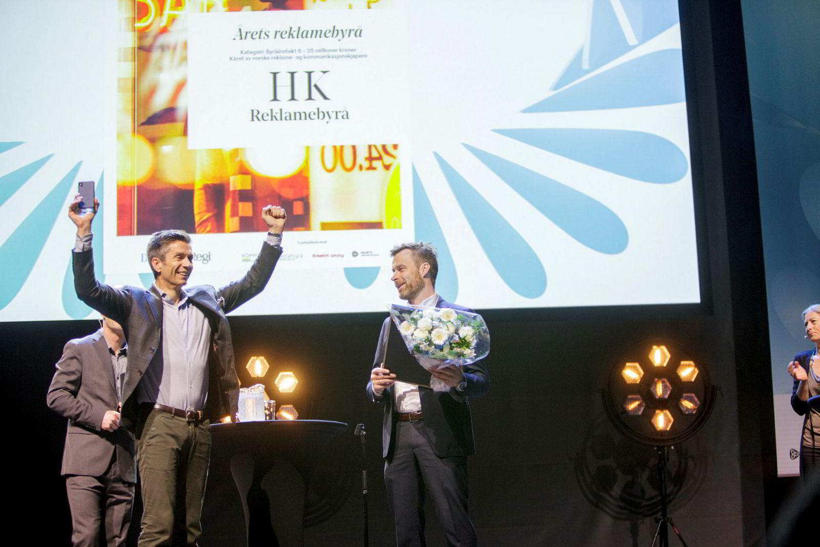 HK Vant Årets reklamebyrå 25–50 millioner kroner for andre år på rad.
