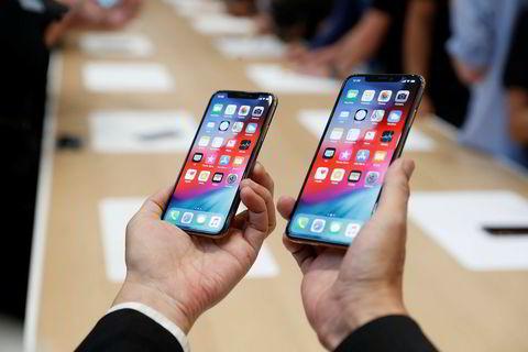 iPhone XS og XS Max.