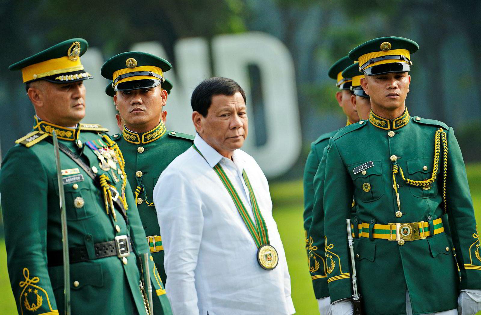 Filippinenes president Rodrigo Duterte har mistet oppslutning hos det filippinske folk.
