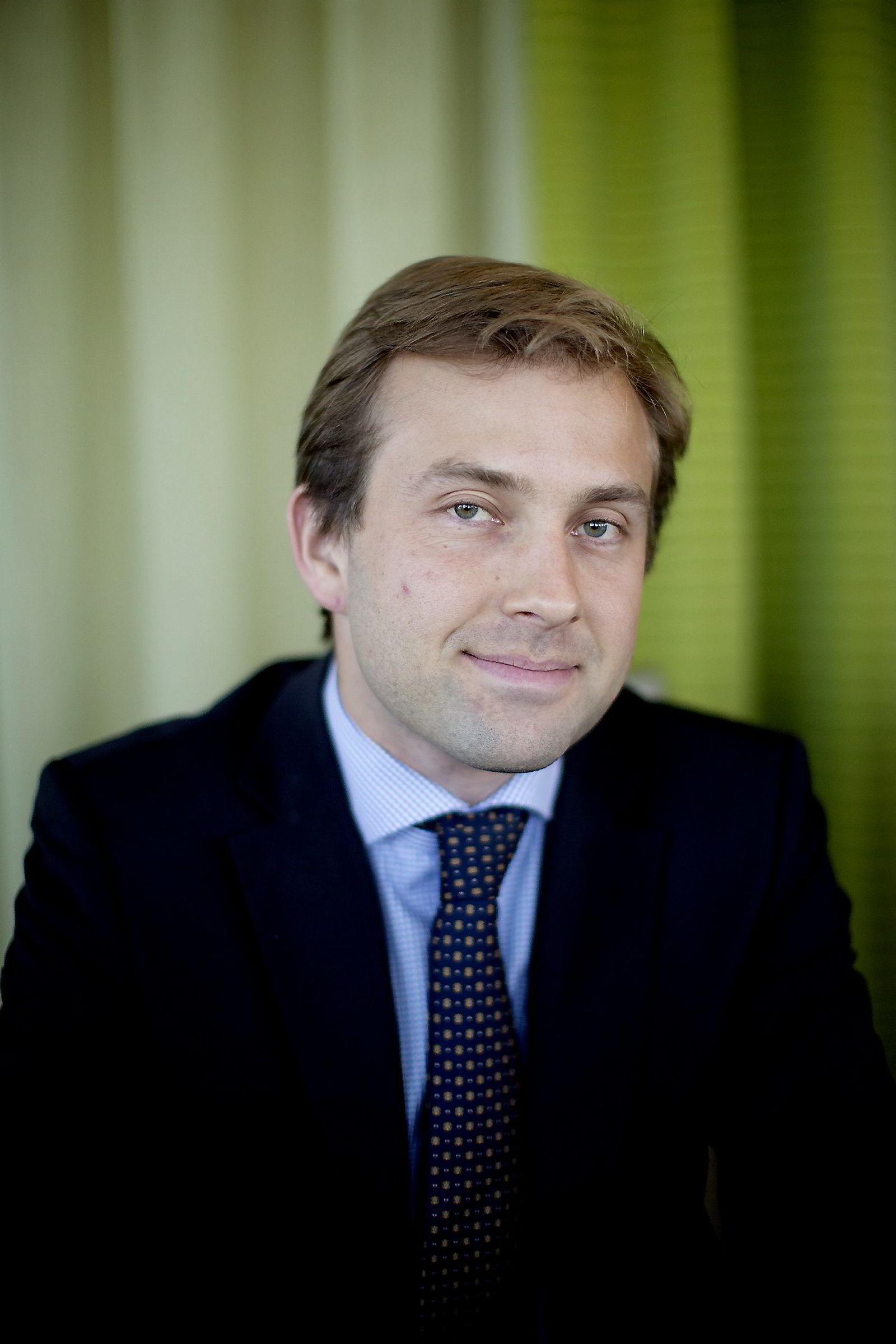 Analytiker Øyvind Mossige i meglerhuset Danske Bank Markets. Foto: Øyvind Elvsborg