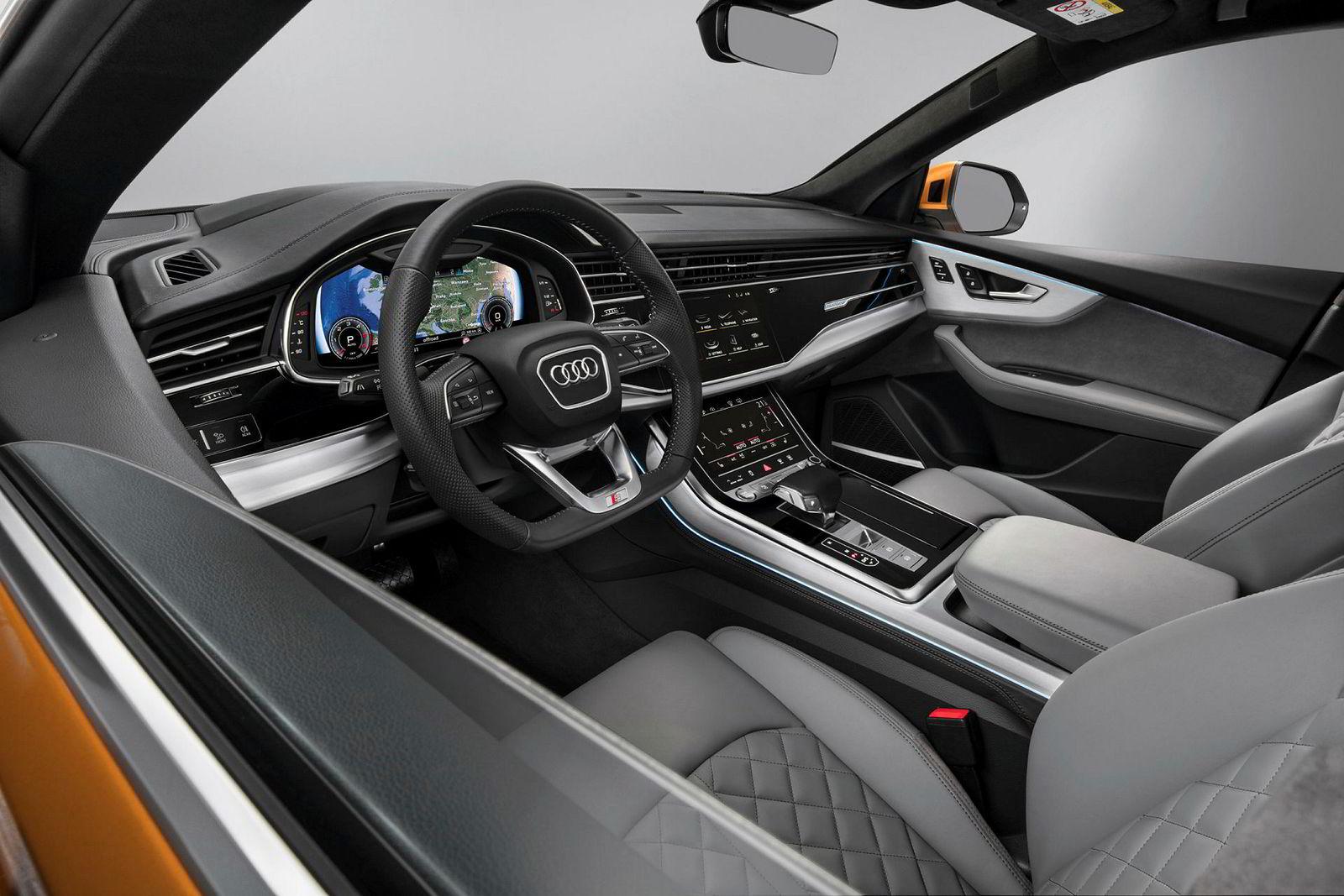 Audi er gode på interiør, noe som også vises i nye Q8.