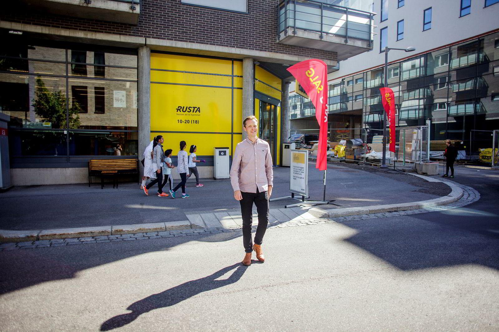 Norgessjef Erlend Kramer er ikke redd for å etablere seg nær konkurrentene. Han ser etter områder med stor handelstrafikk og lokaler som er store nok.