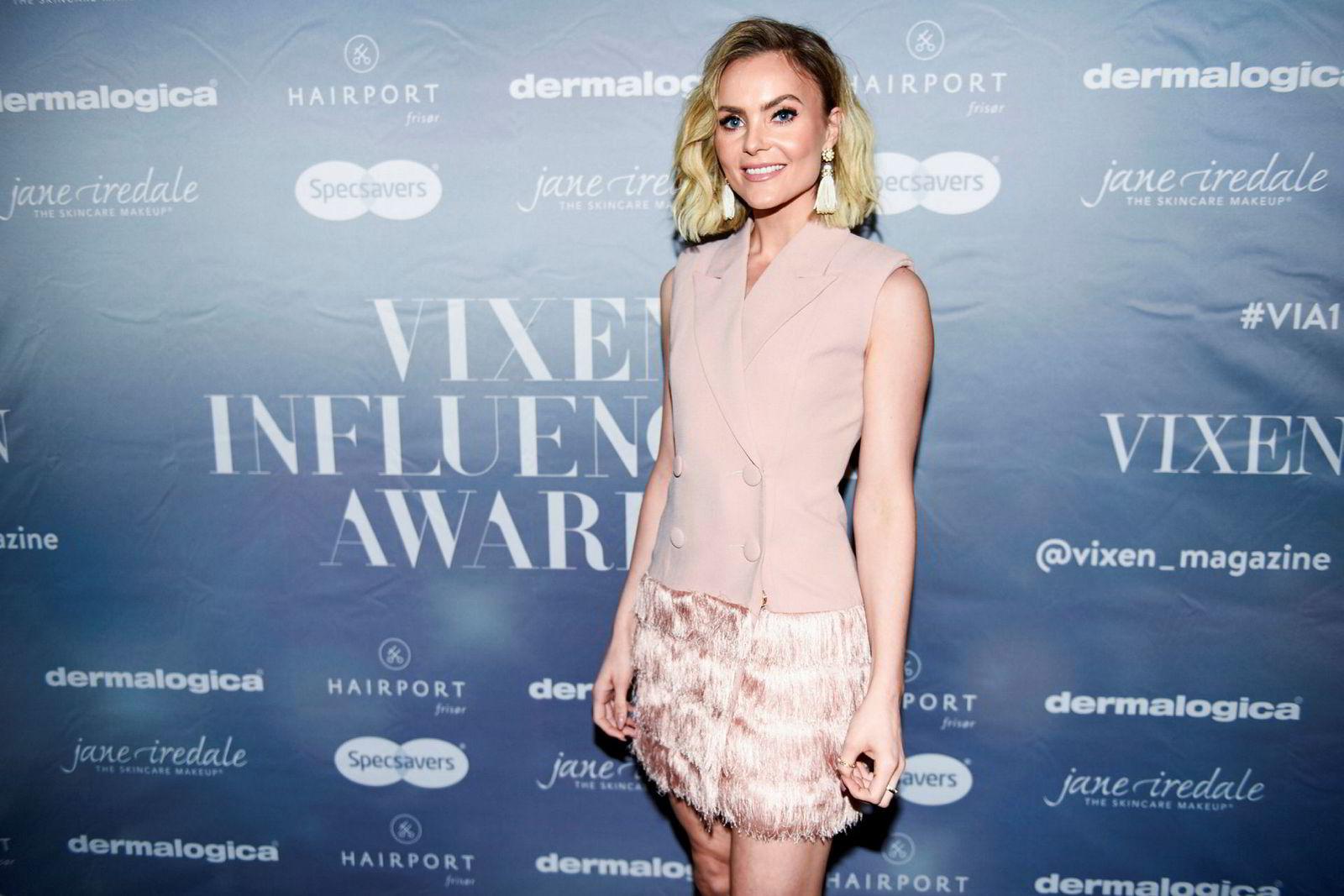 Blogger Caroline Berg Eriksen, her på Vixen Influencer Awards 2017.