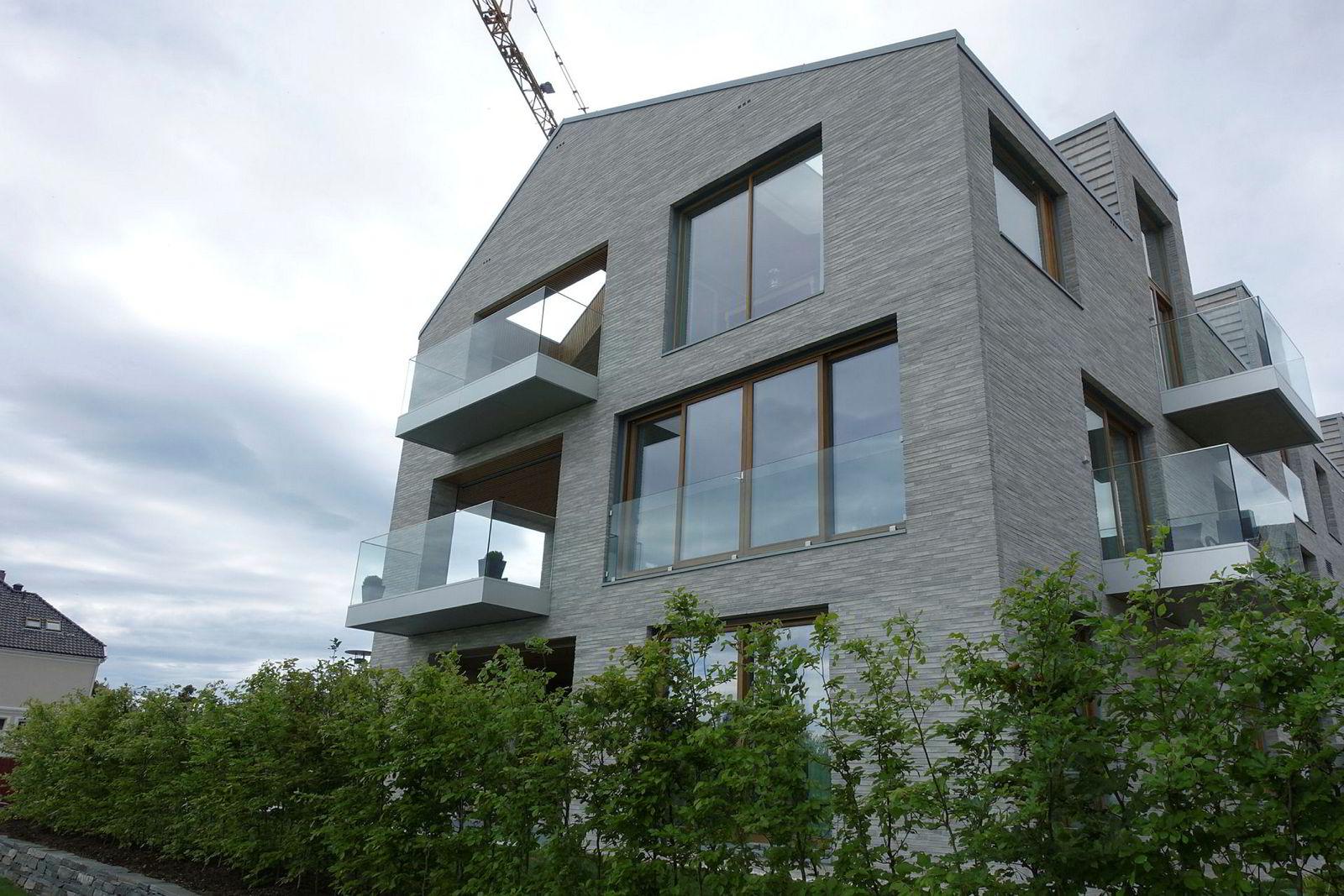 Bjarne Skeies leilighet ved Holbergs gate 2 fra siden.