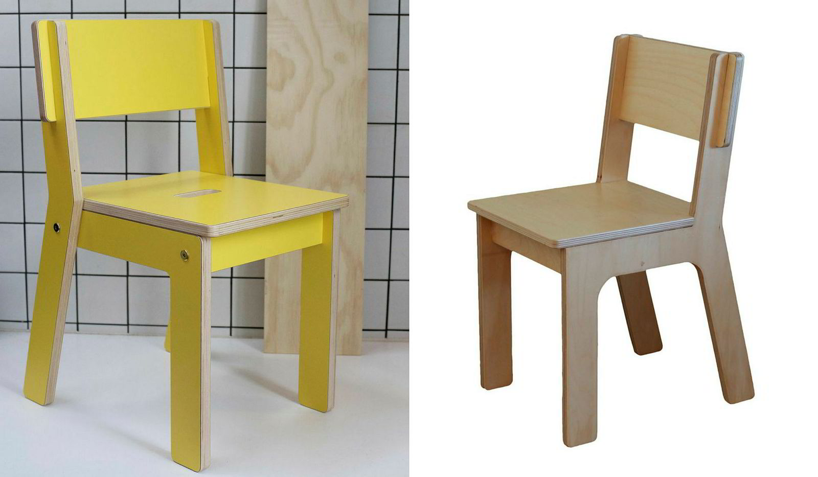 To the left is Kinkelian's edition of the chair designed by Sivertsen and furniture designer Karl Marius Sveen. On the right is the one she thinks One Wood has copied, and is sold on Krogsæter's websites.