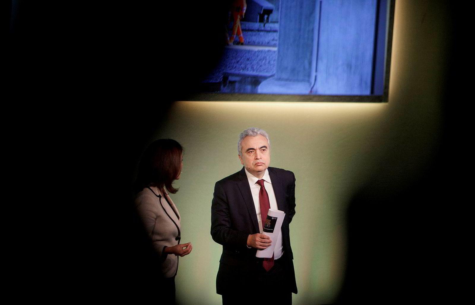 Fatih Birol har siden september 2015 vært sjef for Det internasjonale energibyrået (IEA). Her snakker han på Statoils høstkonferanse.