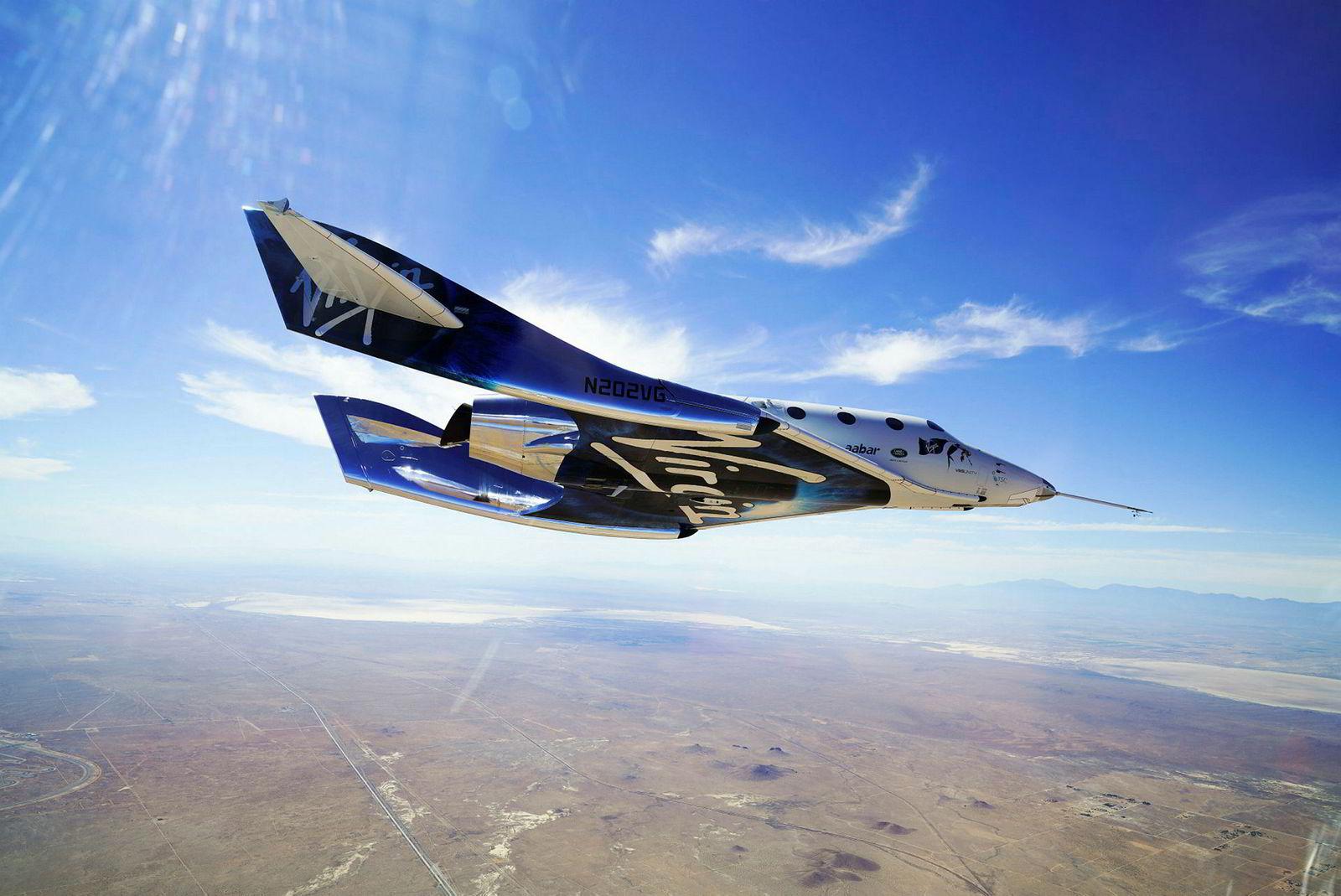 Denne romfergen fra Virgin Galactic skal allerede i 2019 ta med betalende turister ut av Jordens atmosfære.