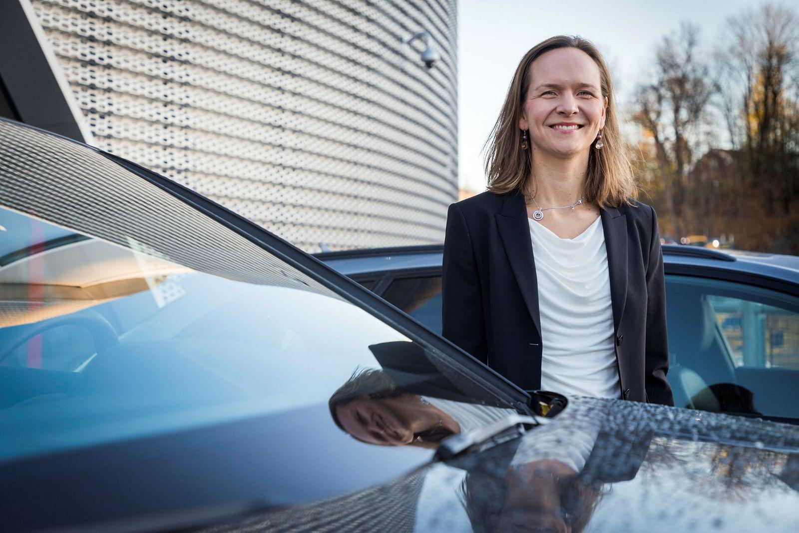 Audi-sjef Elin Sinervo, kommer med en billigere versjon av elbilsuksessen E-tron.