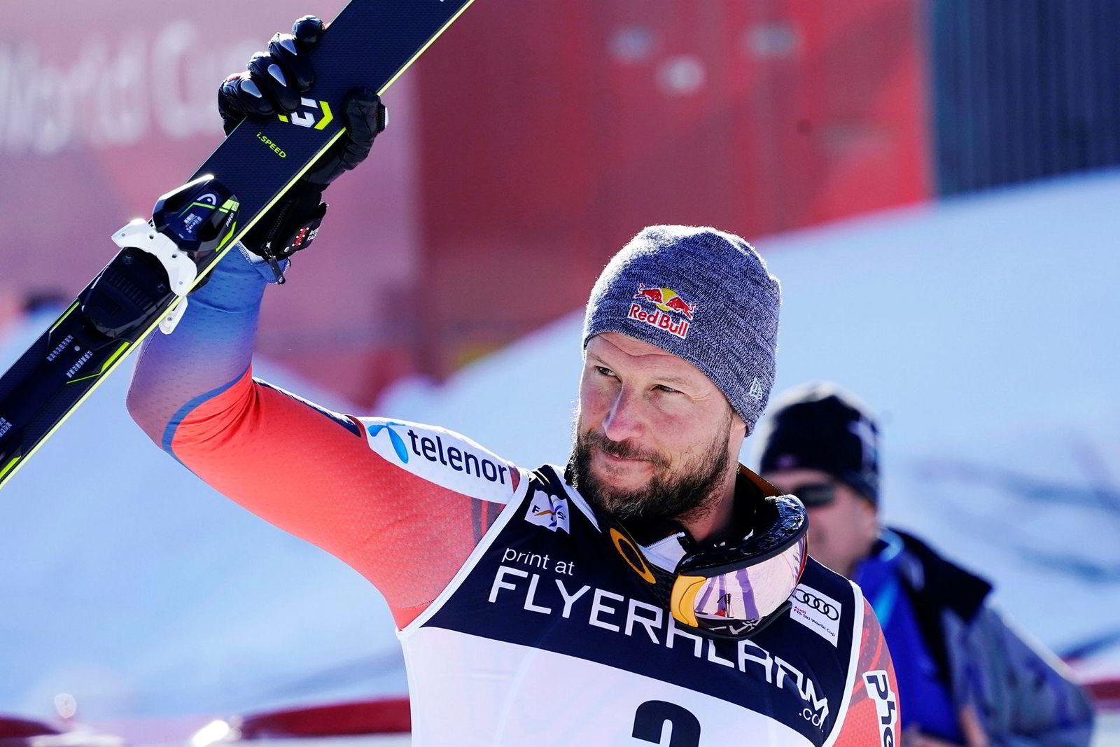 Skiesset Aksel Lund Svindal. Her fra Kvitfjell hvor han sikret seg 2. plass i verdenscuprennet i utfor i 2018.