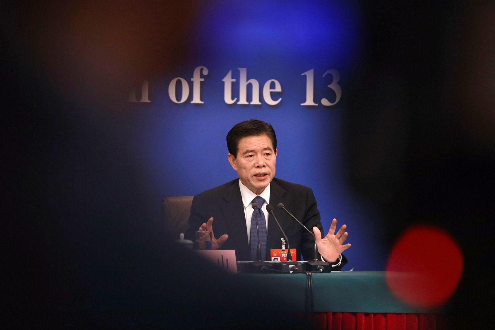 Handelsminister Zhong Shan, som blir sett på som en hauk, leder Kinas delegasjon.