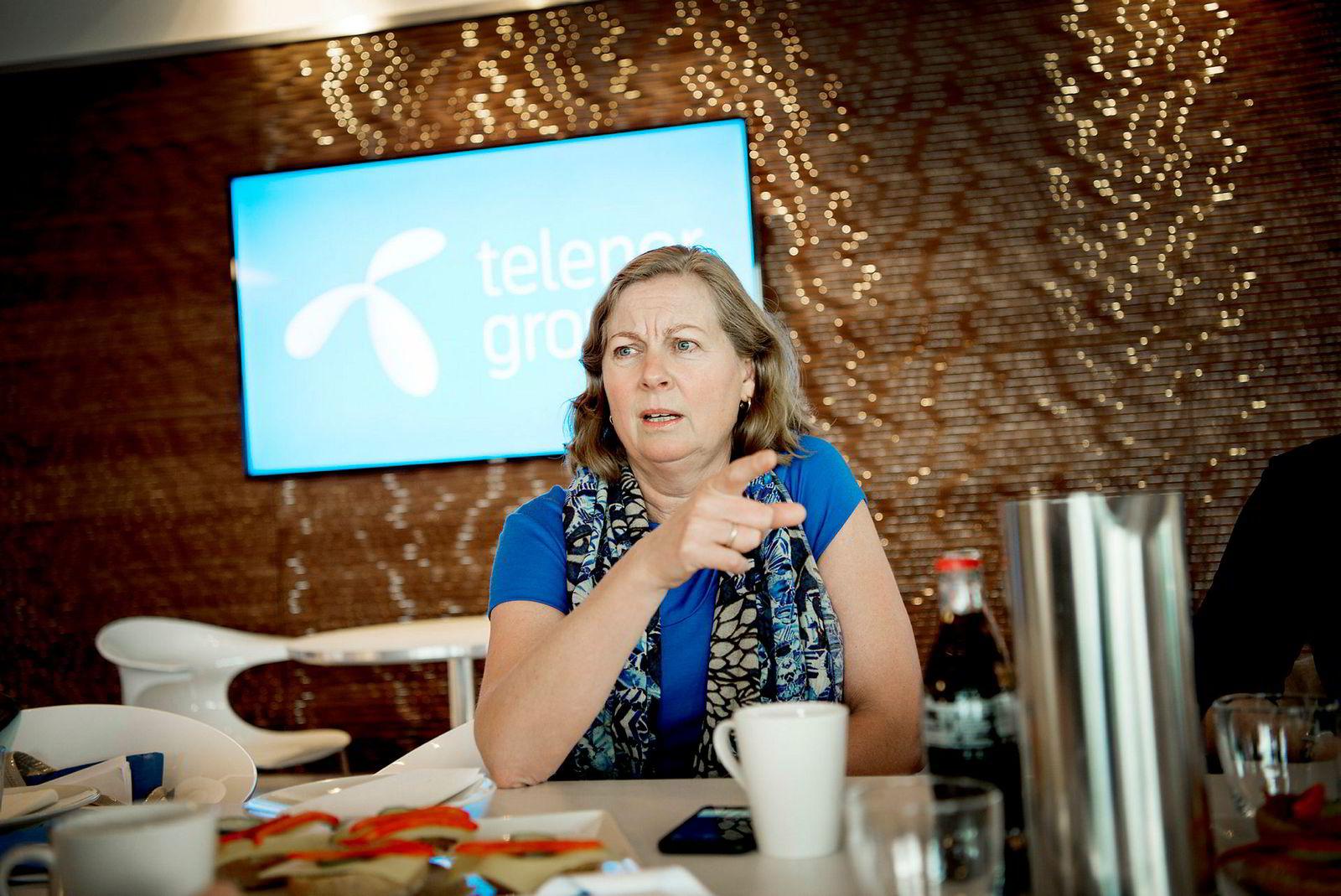 Administrerende direktør Berit Svendsen i Telenor Norge.