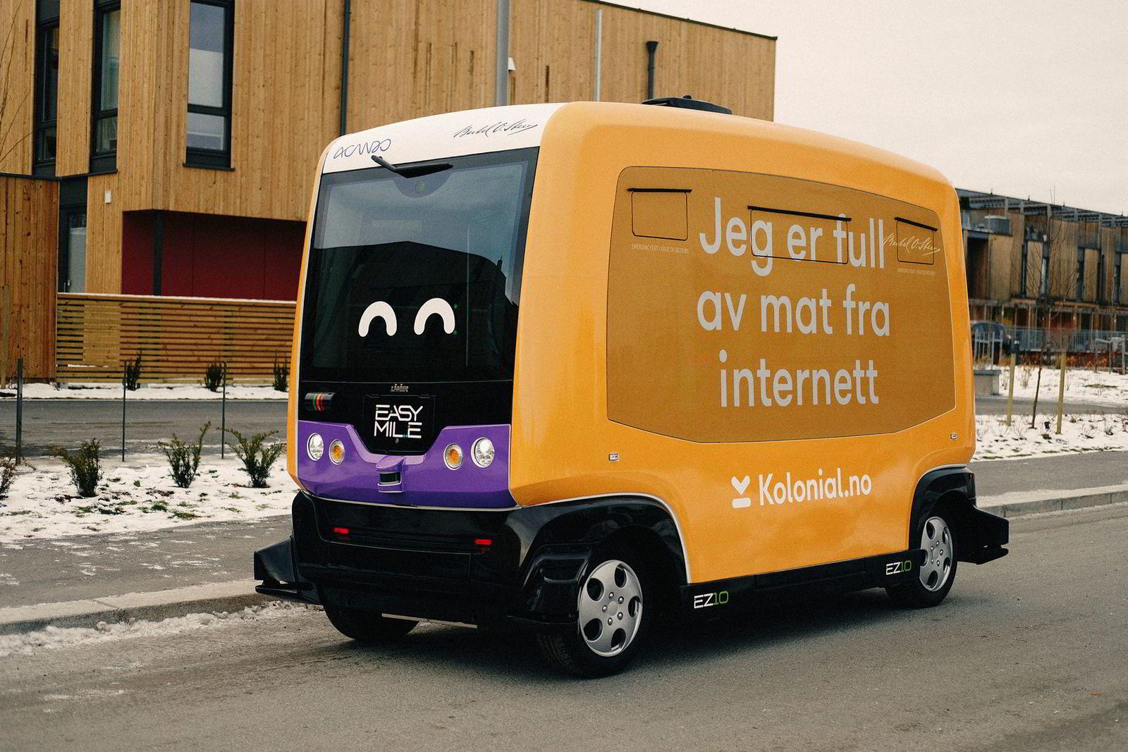 Kolonial.no gjorde nylig forsøk med en selvkjørende matbutikk på Fornebulandet i Bærum. - Dette viser hvilke muligheter som ligger i mat på nett, og det er nærmere virkeligheten enn man tror, sier Karl Munthe Kaas, gründer og sjef for Kolonial.no,