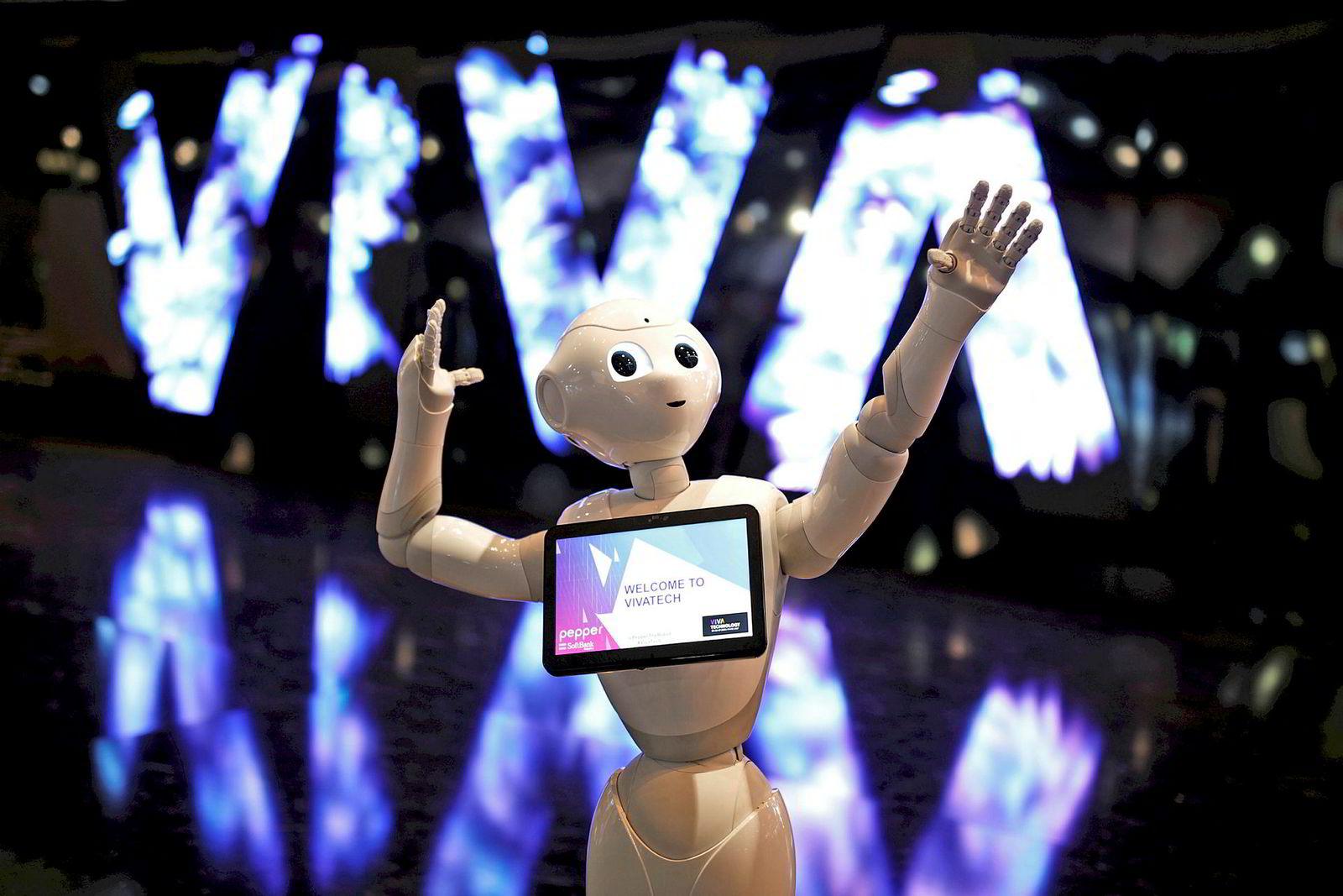 «Pepper» – én av Softbanks roboter.