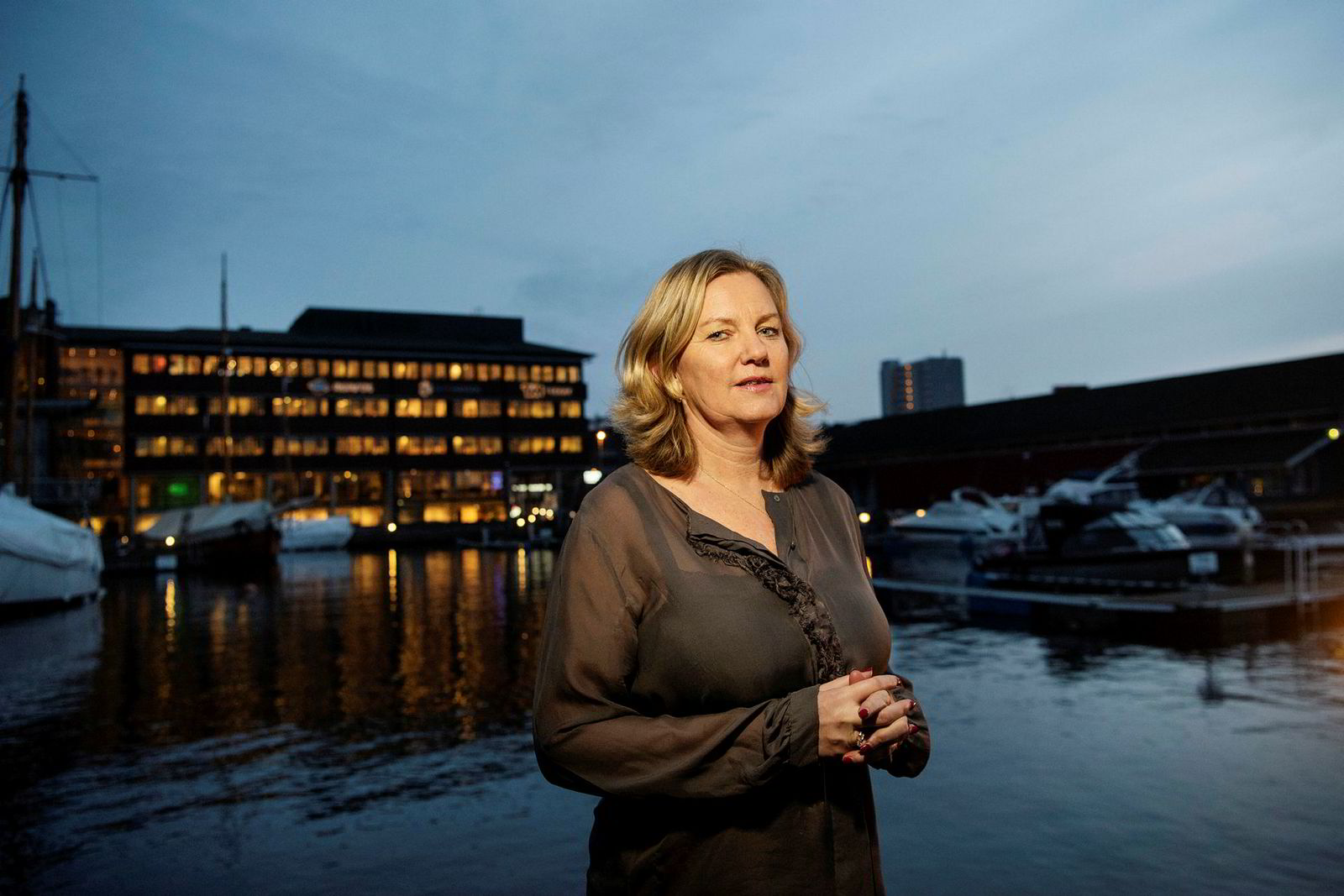 Teekay Offshore-sjef Ingvild Sæther sier at razziaen kom svært overraskende på selskapet.